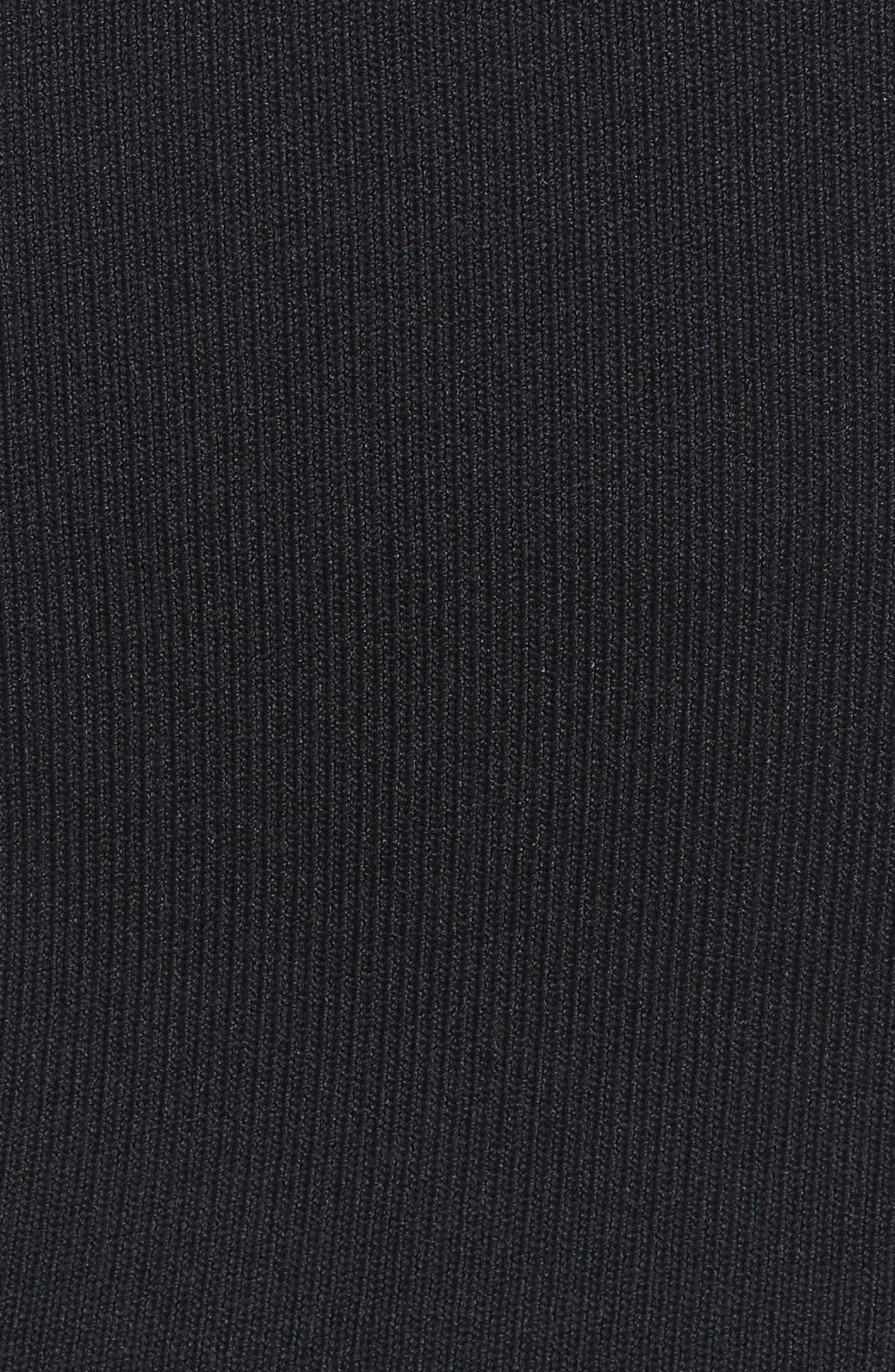 Bishop + Young Siena Peekaboo Skirt,                             Alternate thumbnail 5, color,                             Black