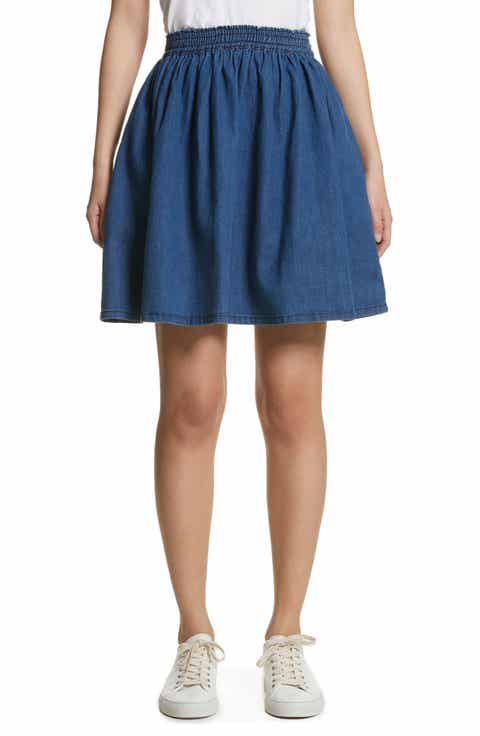 The Great Court Denim Skirt Compare Price