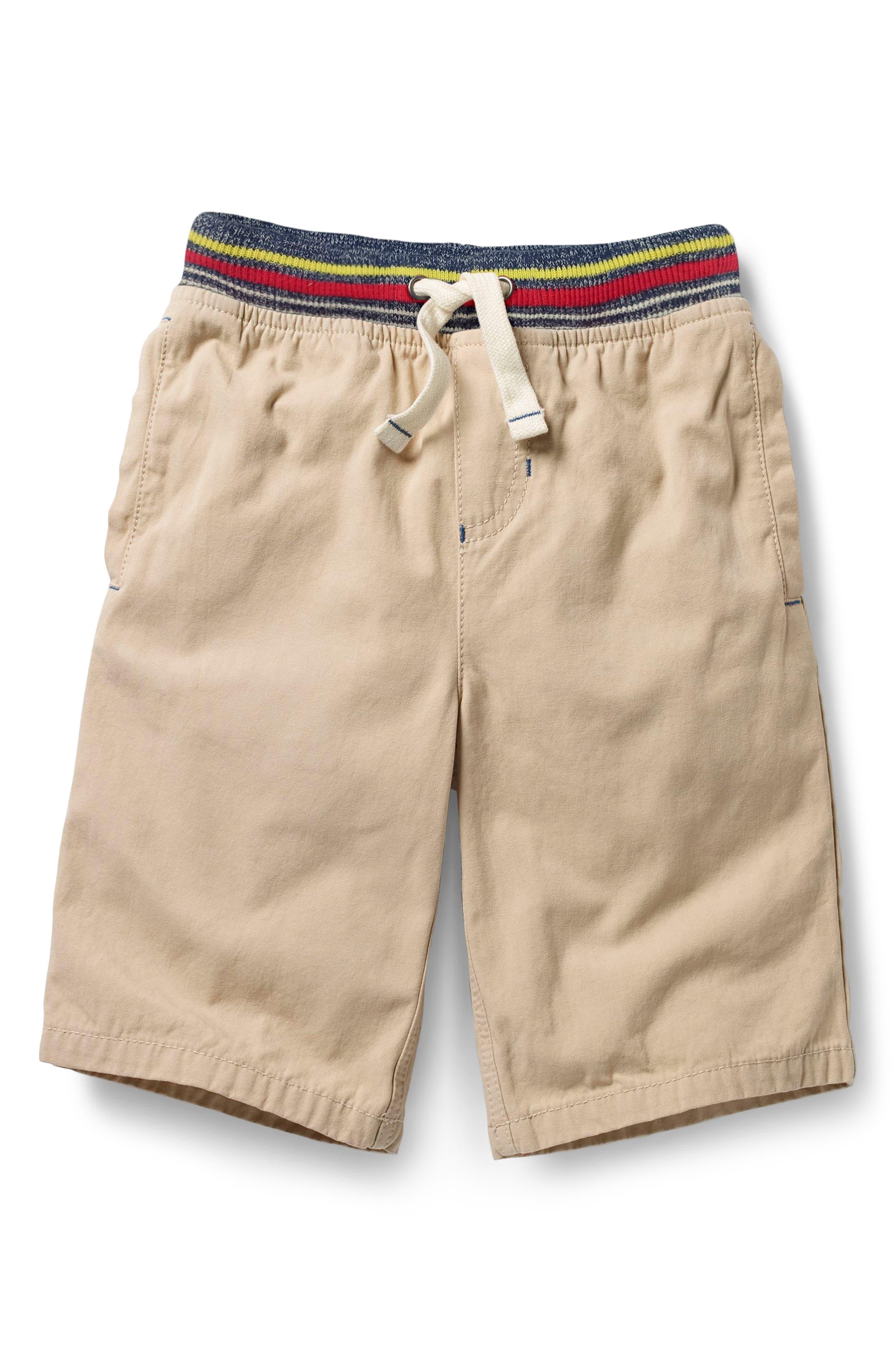 Rib Waist Shorts,                         Main,                         color, Stone Beige