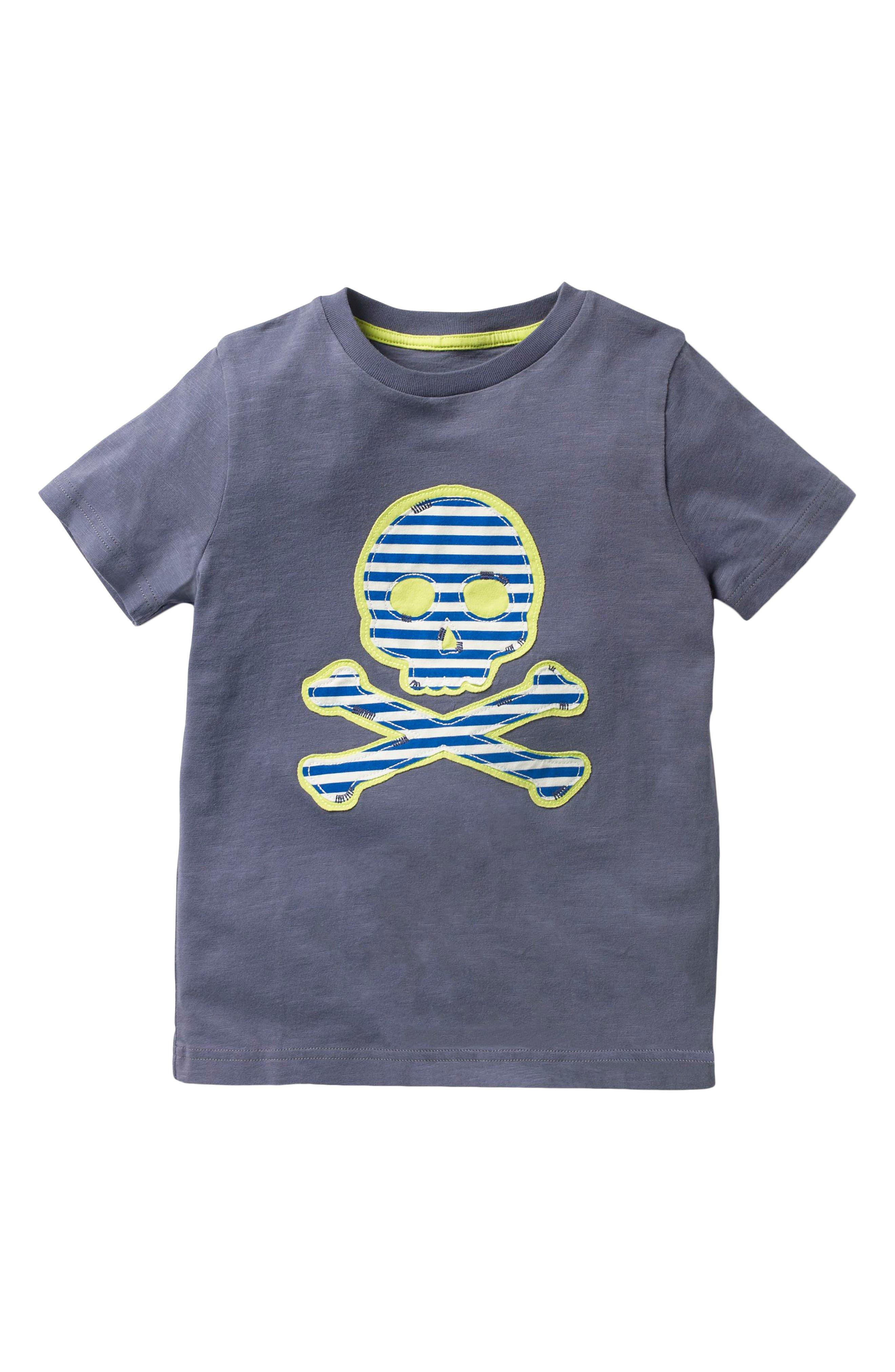 Mini Boden Pirate Appliqué T-Shirt (Toddler Boys, Little Boys & Big Boys)