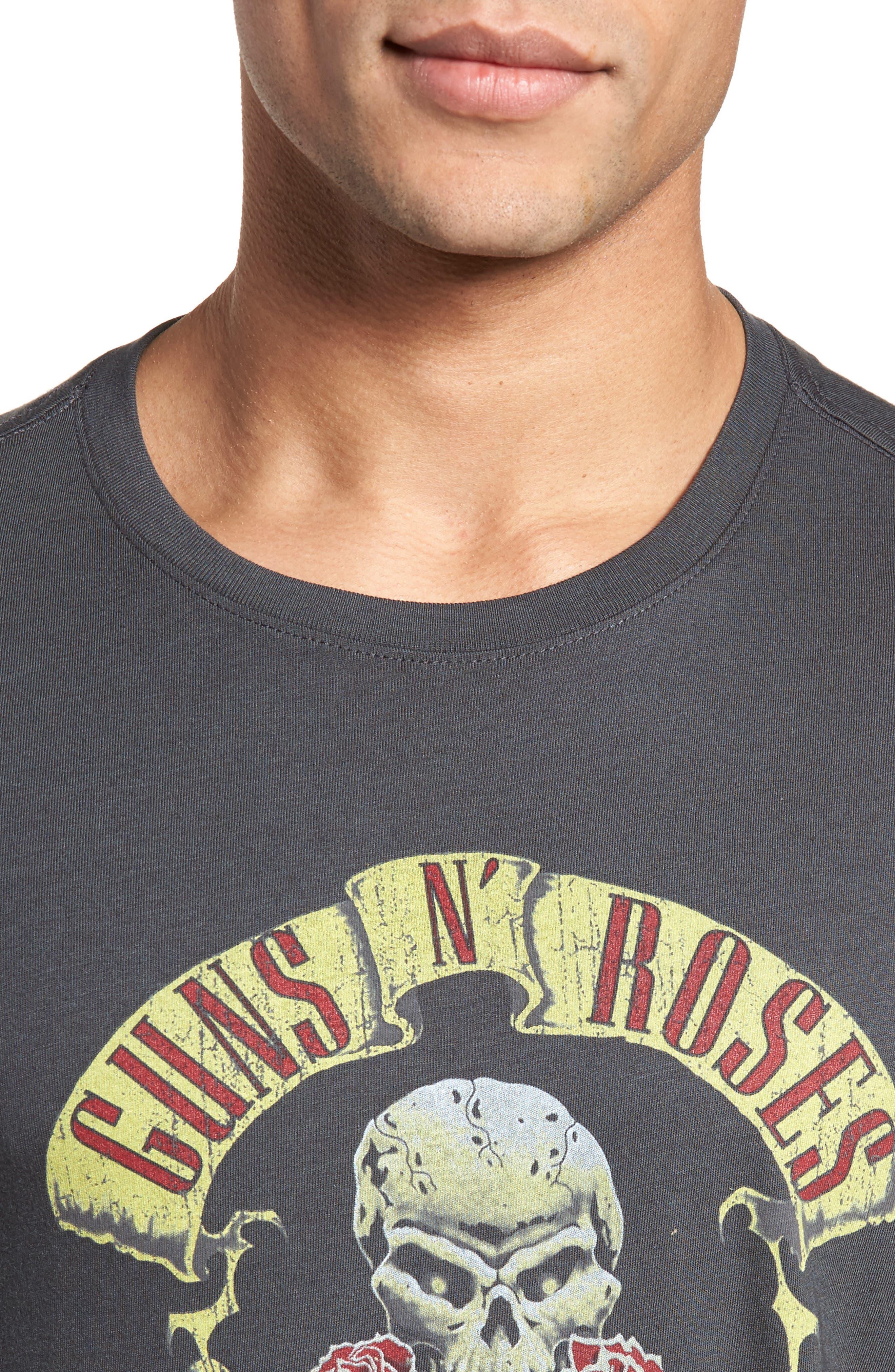 Guns N' Roses Graphic T-Shirt,                             Alternate thumbnail 4, color,                             Coal