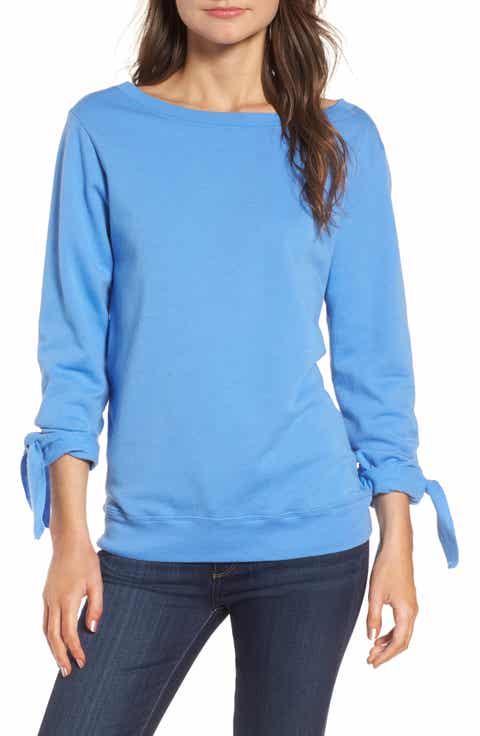 Hinge Tie Sleeve Sweatshirt
