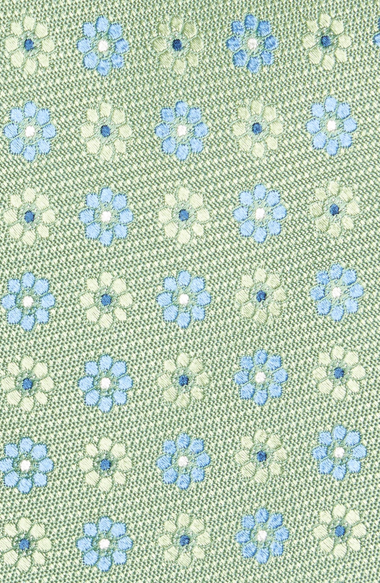 John W. Nordstrom Floral Silk Tie,                             Alternate thumbnail 2, color,                             Green
