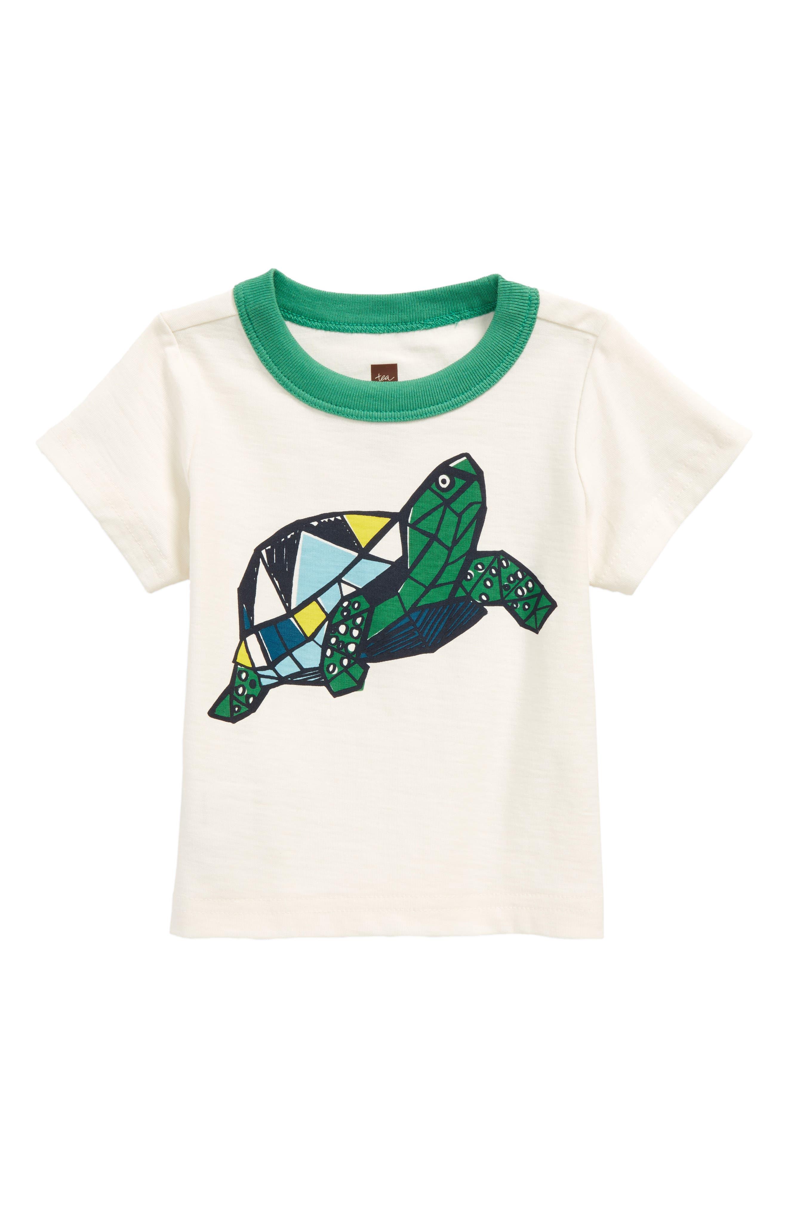 Turtle Power T-Shirt,                         Main,                         color, Chalk