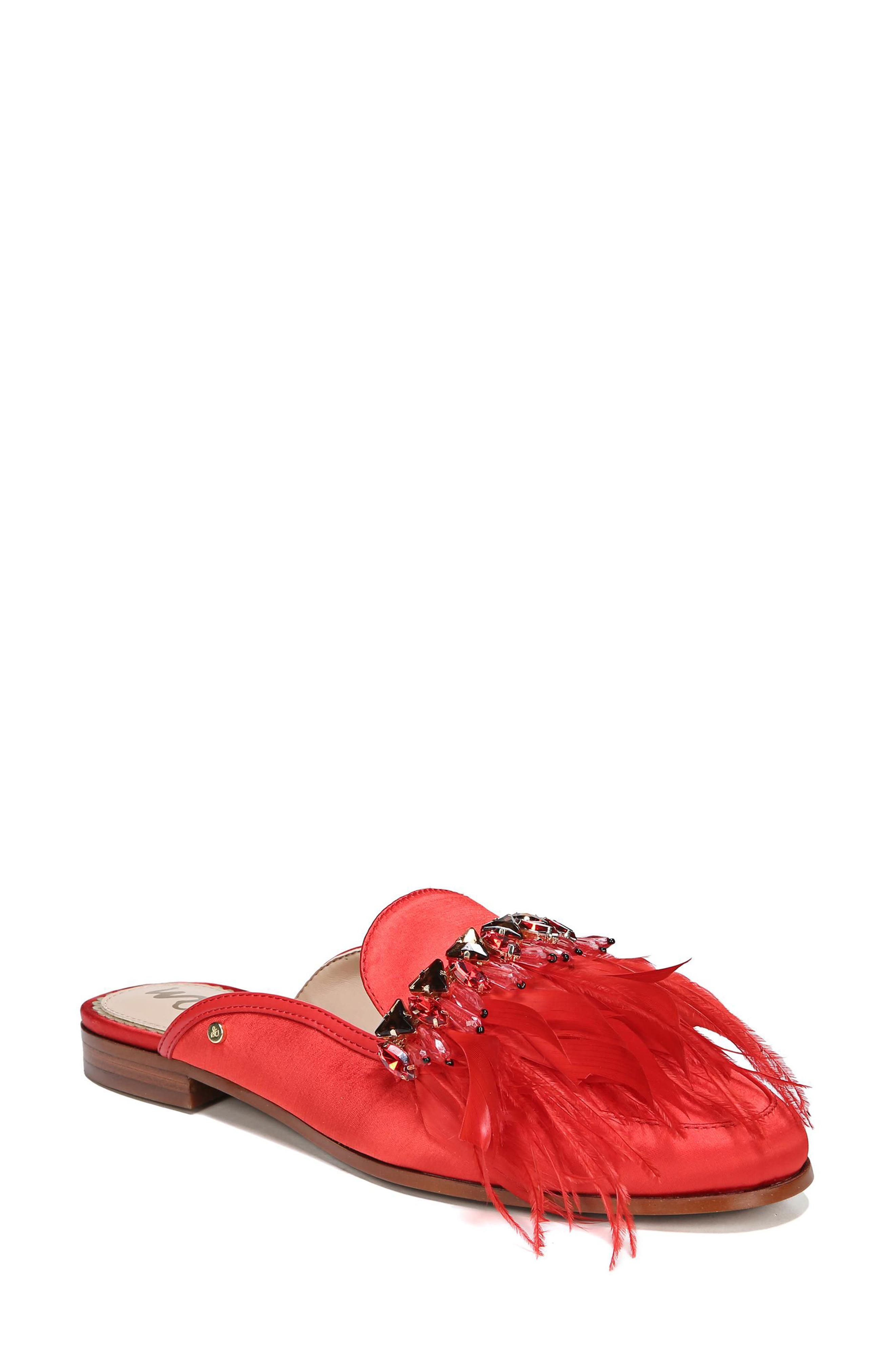 Alternate Image 1 Selected - Sam Edelman Landis Feather Mule (Women)