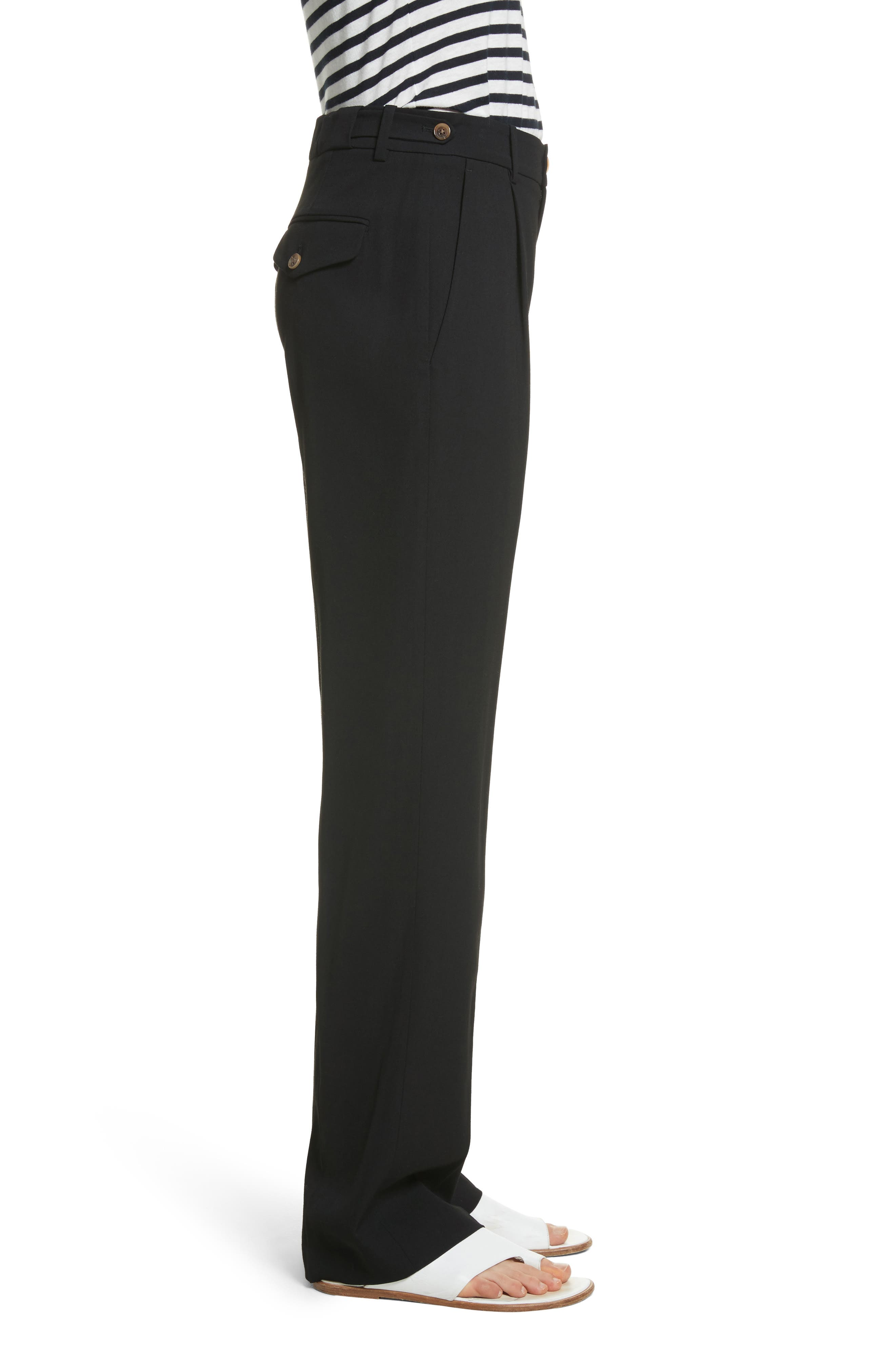 Relaxed Trousers,                             Alternate thumbnail 3, color,                             Black