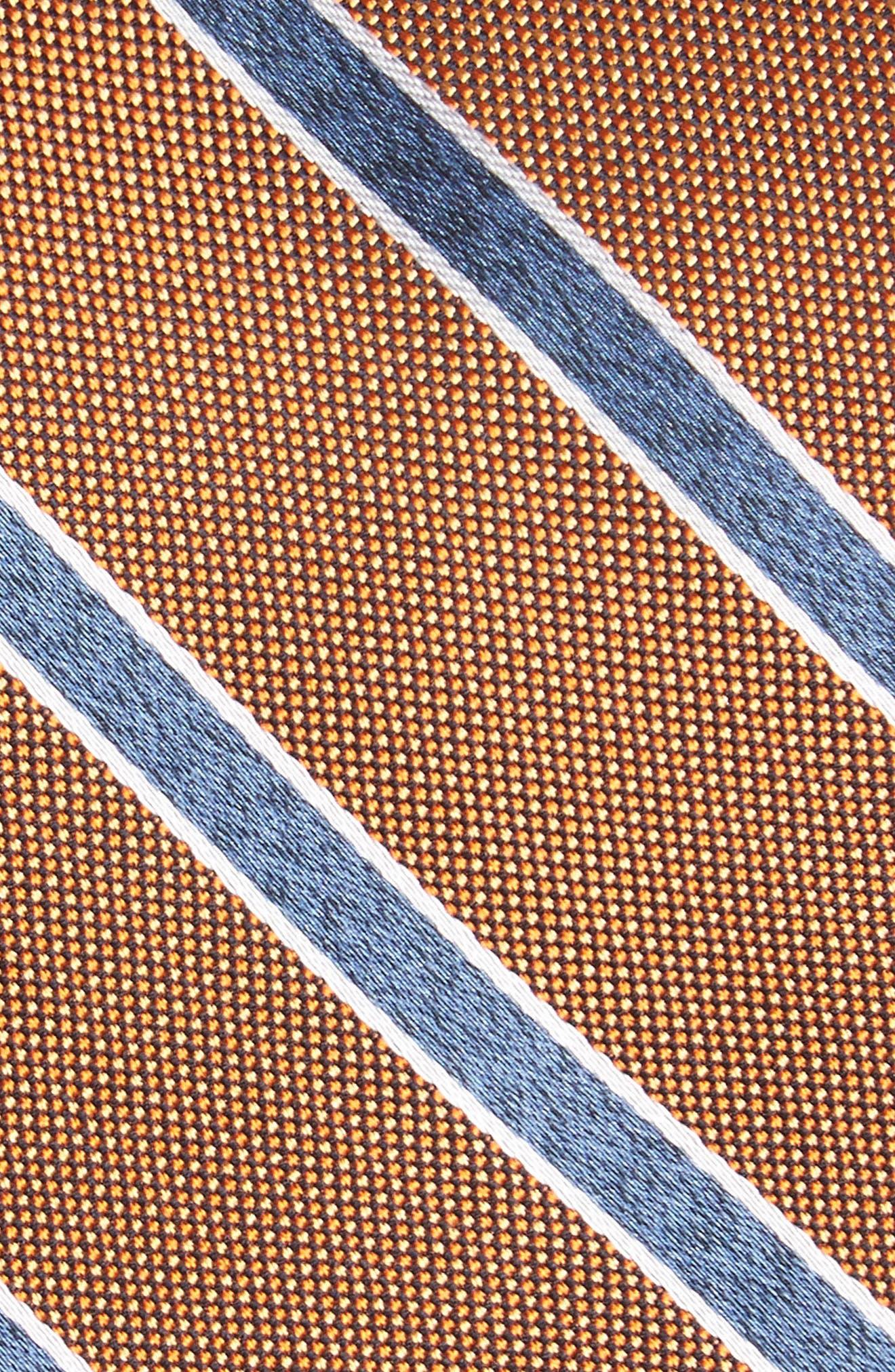Fontana Stripe Silk Skinny Tie,                             Alternate thumbnail 2, color,                             Orange