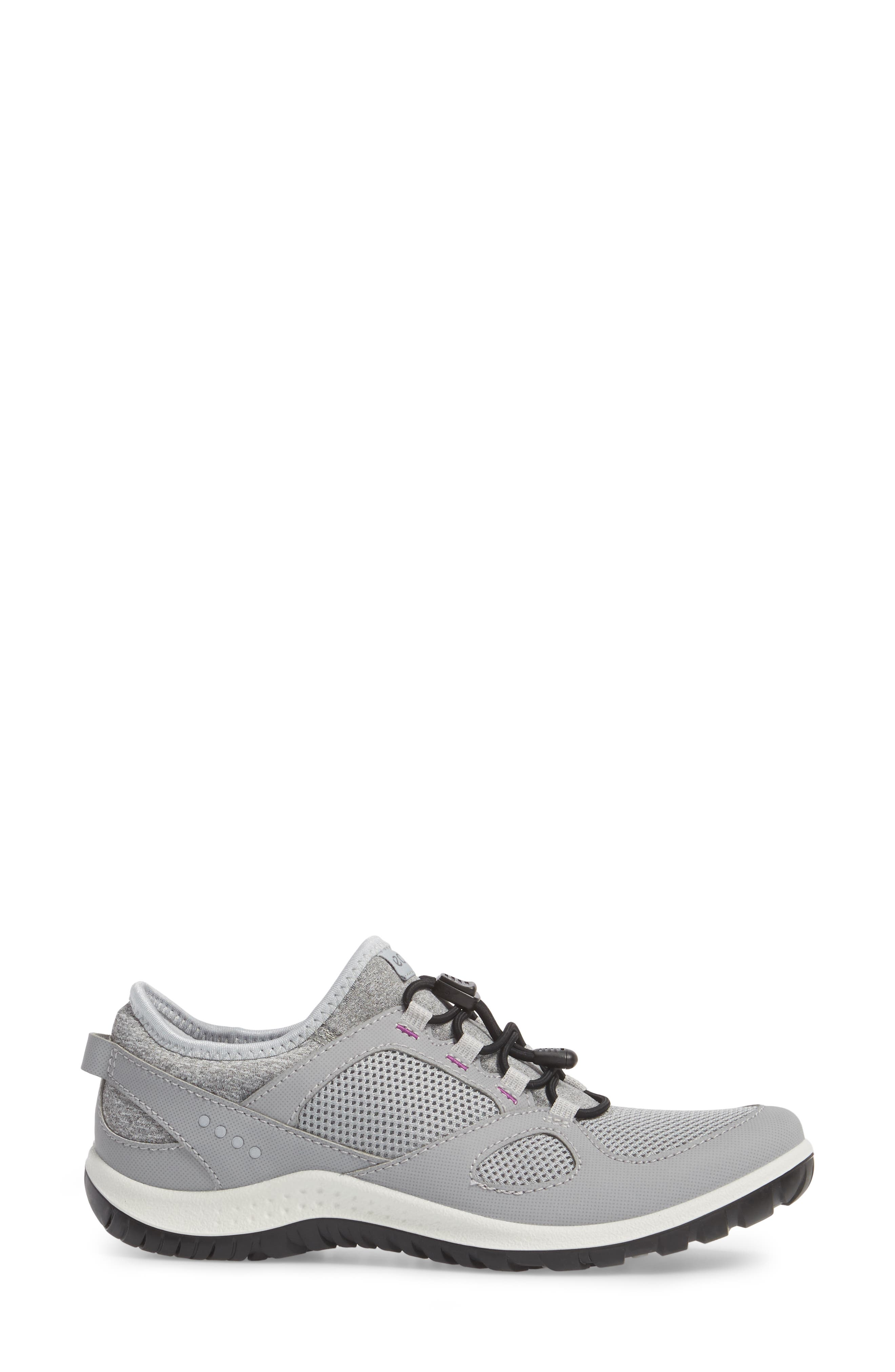 Aspina Toggle Hiking Sneaker,                             Alternate thumbnail 3, color,                             Silver Grey Leather