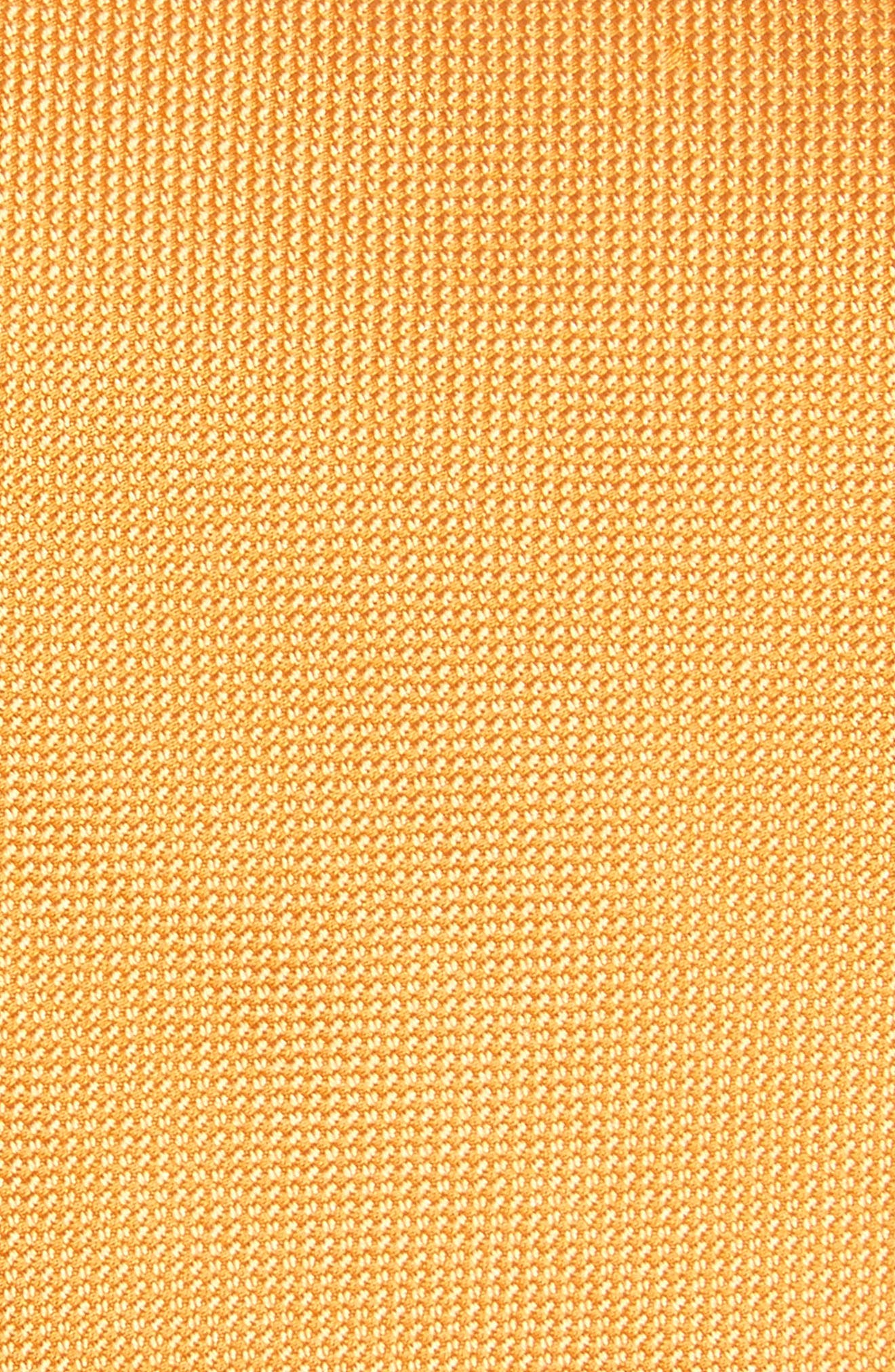 Edith Silk Tie,                             Alternate thumbnail 2, color,                             Orange