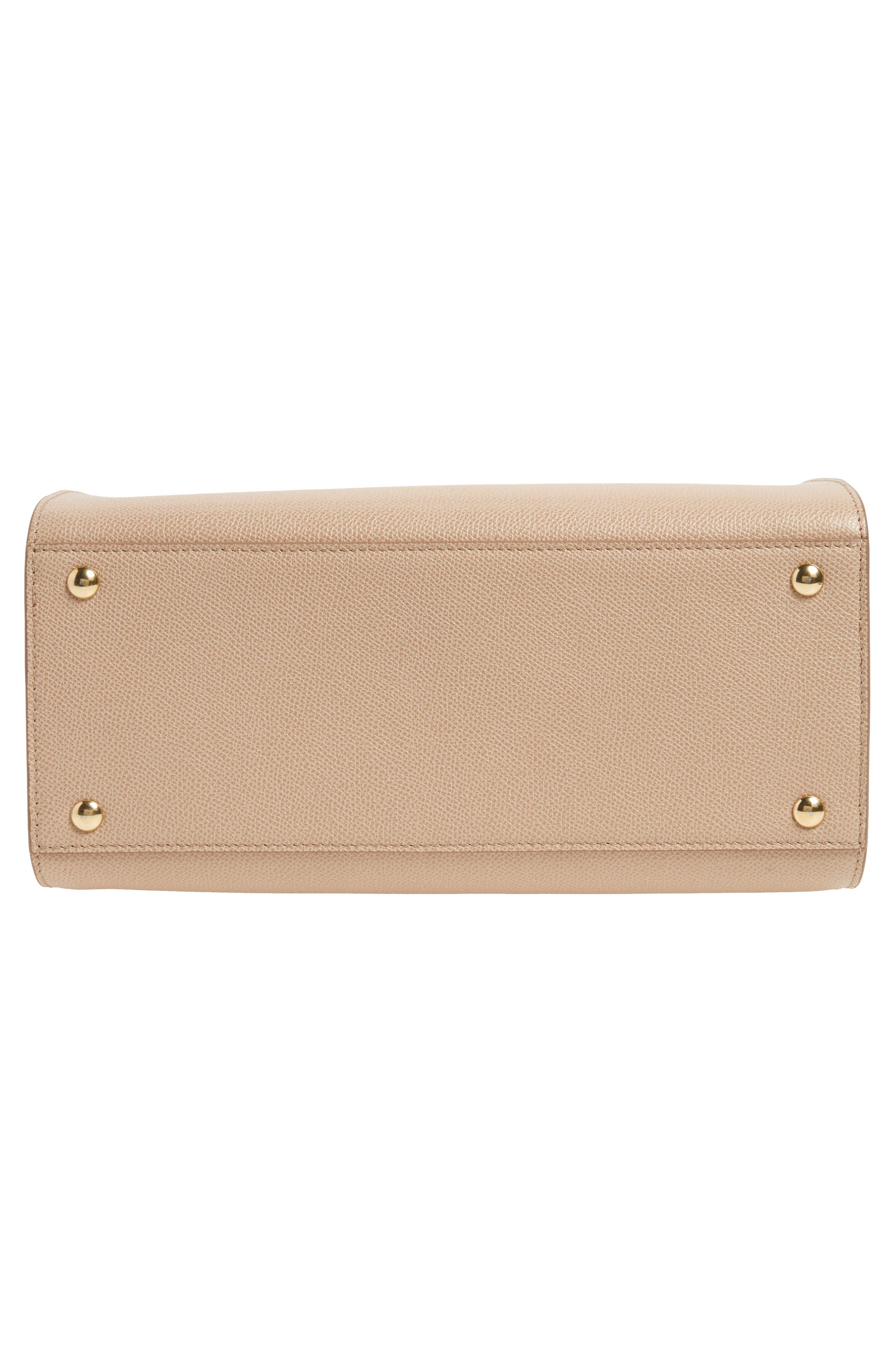 Small Today Leather Satchel,                             Alternate thumbnail 6, color,                             Almond/ Sable