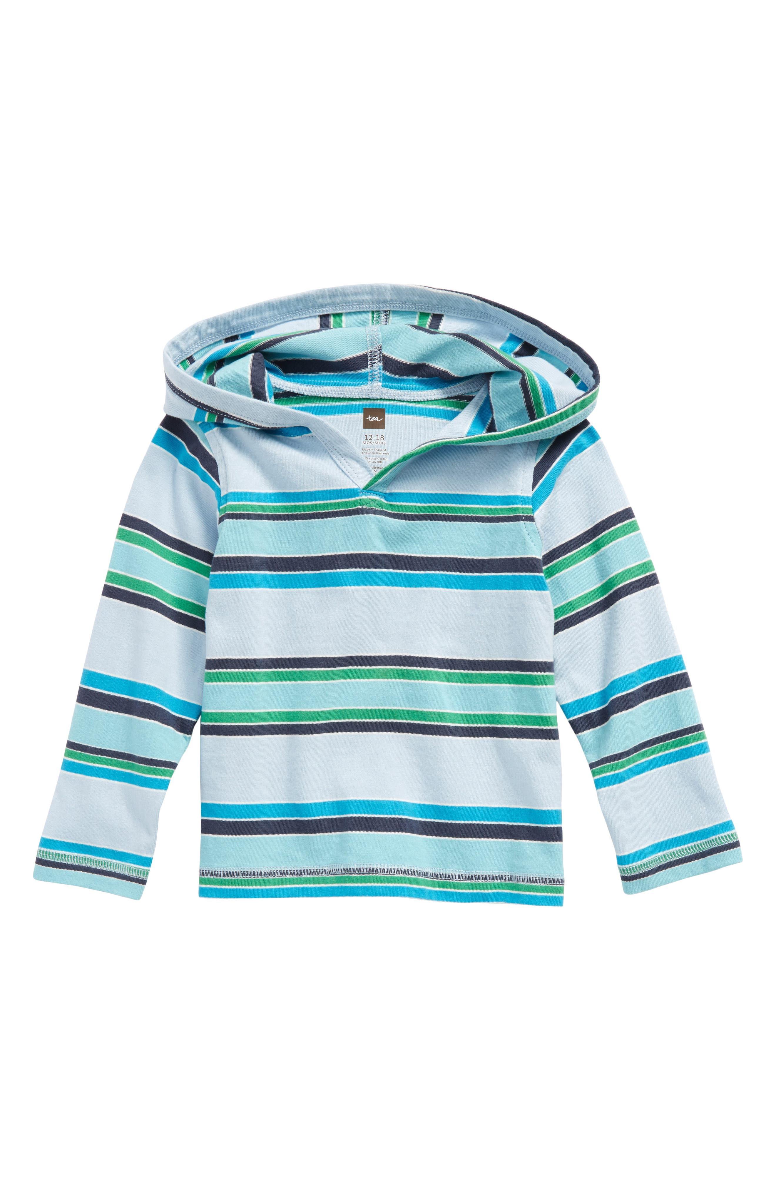 Alternate Image 1 Selected - Tea Collection Horizon Happy Hoodie (Baby Boys)