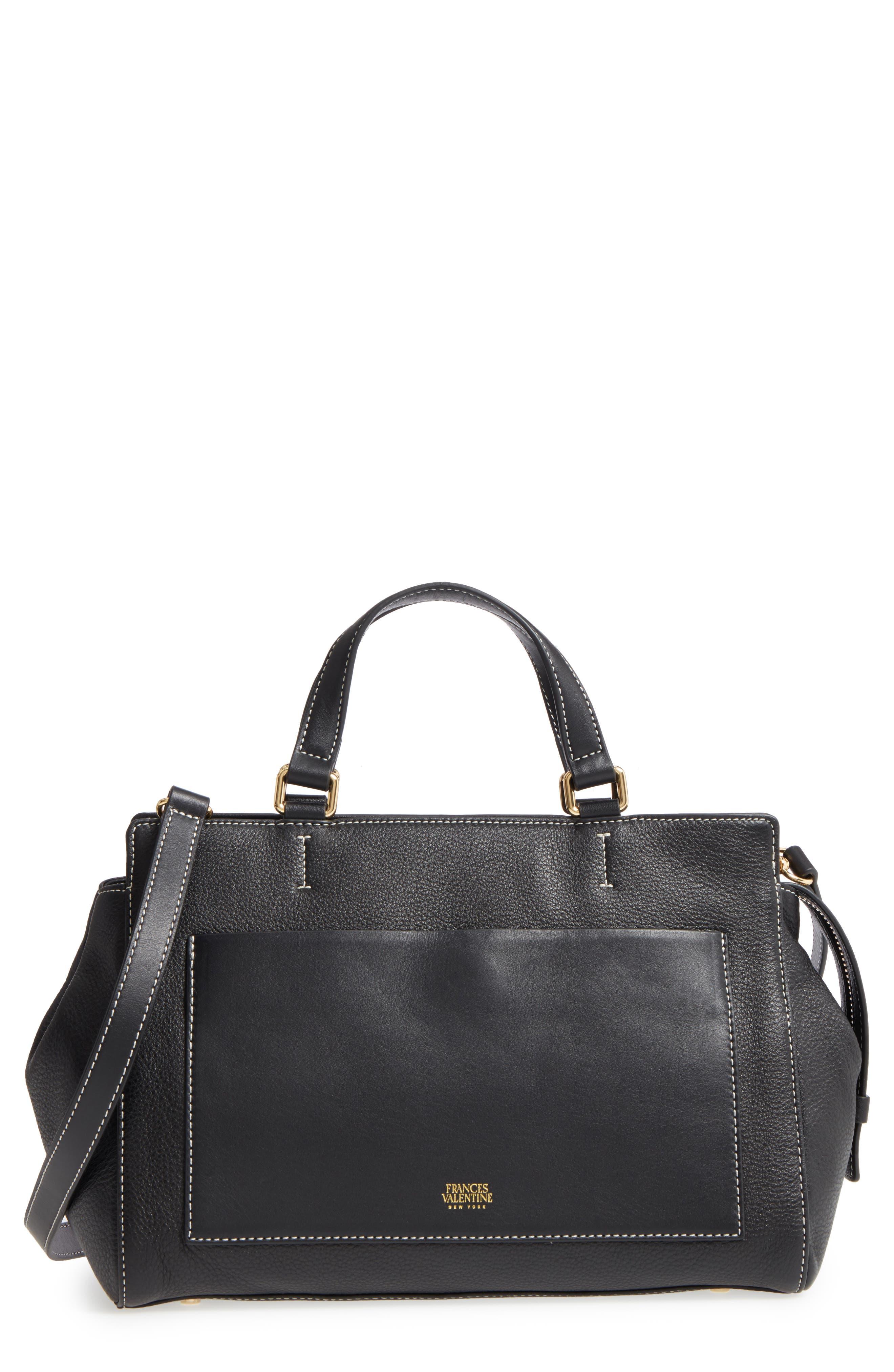 Frances Valentine Anna Leather Top Handle Satchel