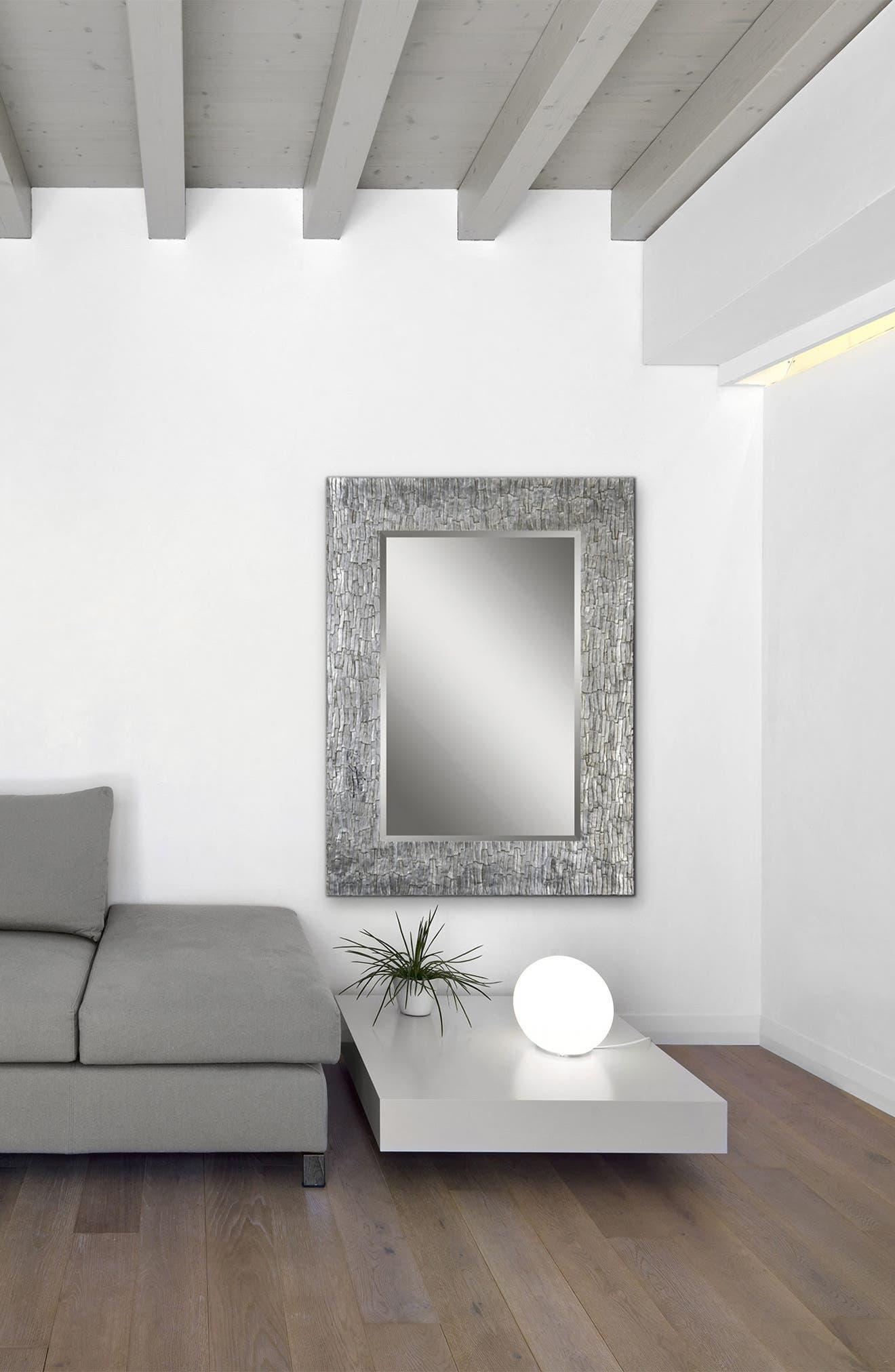 Santa Fe Mirror,                             Alternate thumbnail 2, color,                             Silver Leaf/ Bark Texture