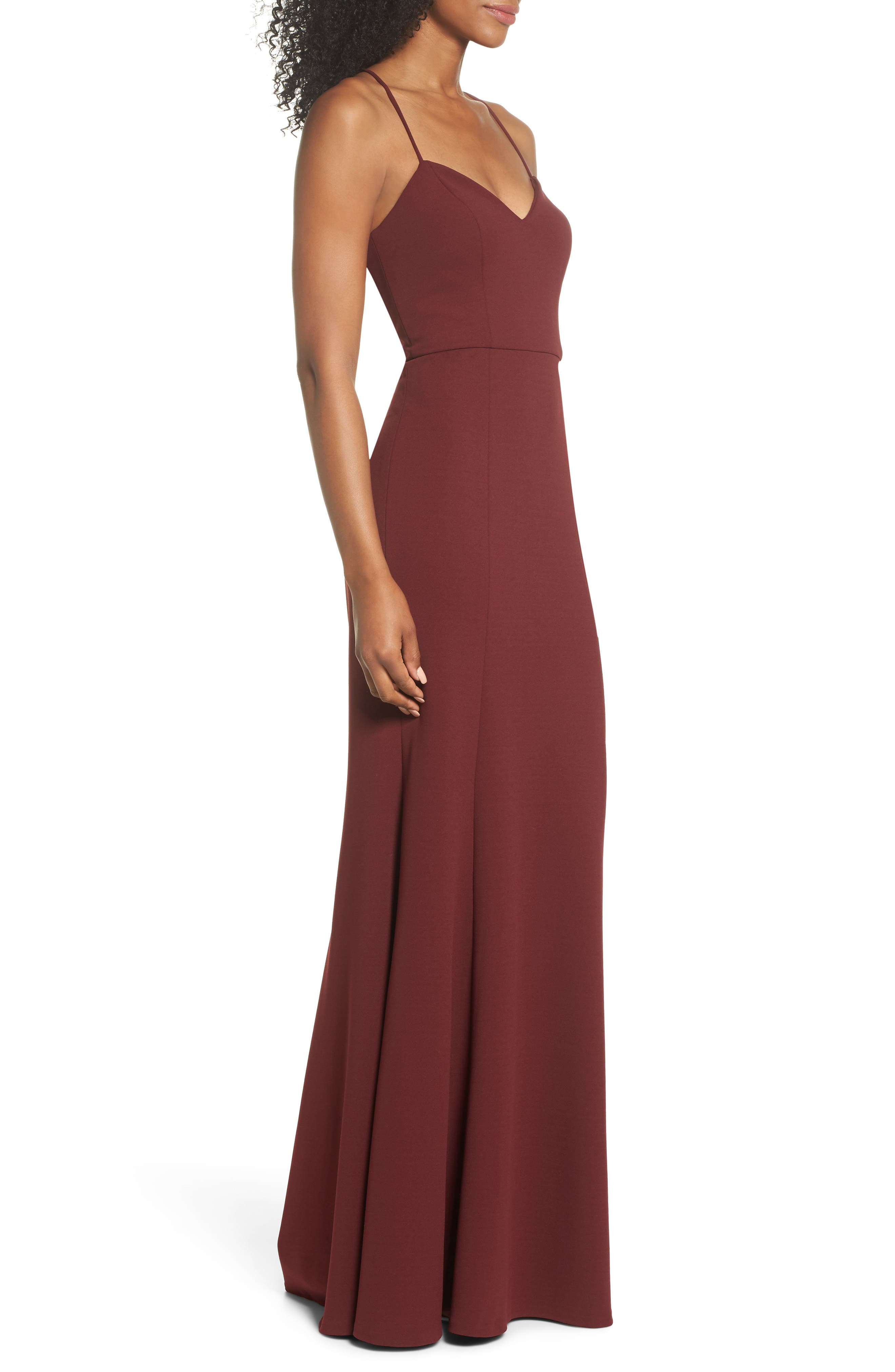 Alternate Image 3  - Jenny Yoo Reese Crepe Knit Gown