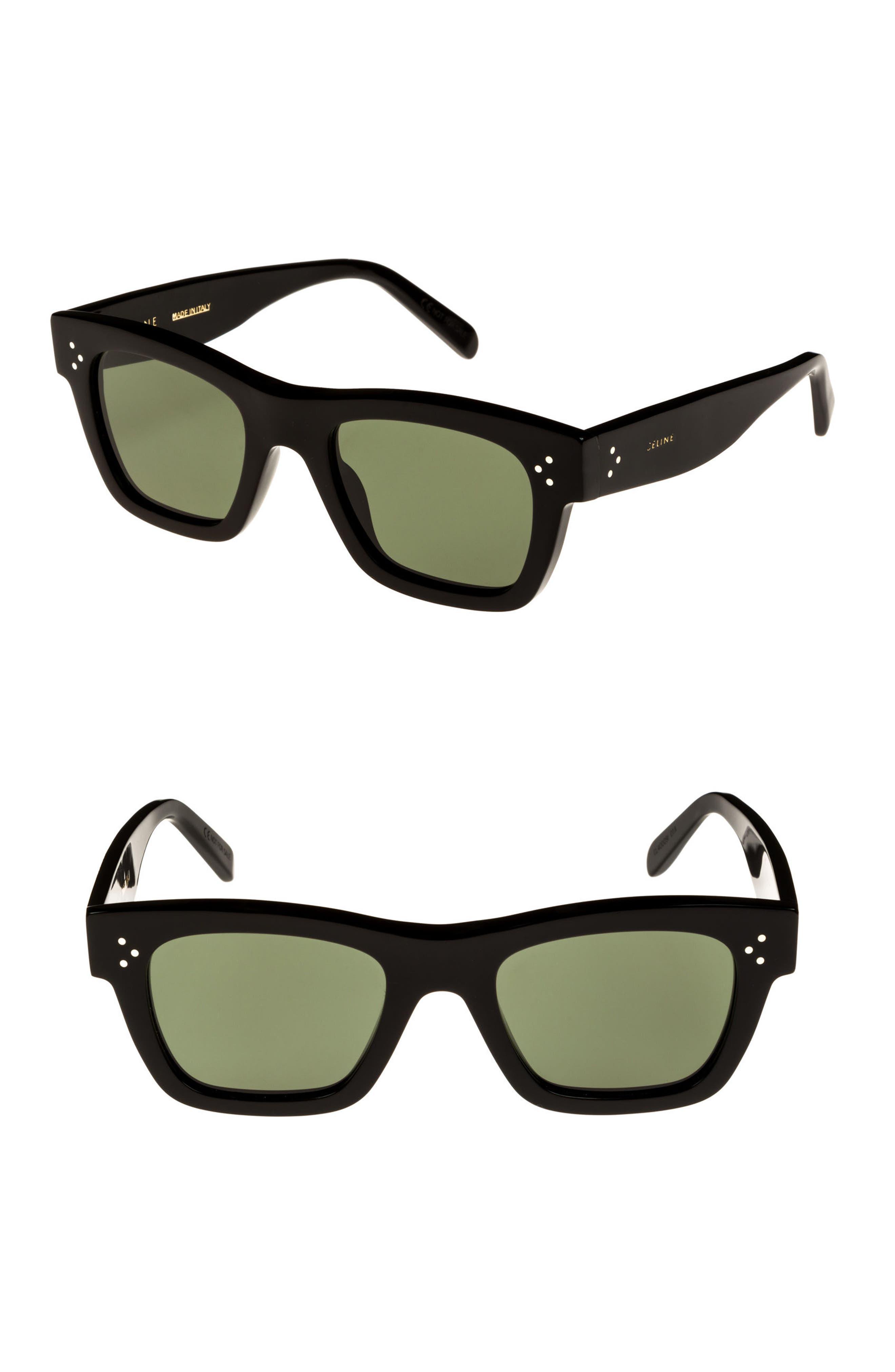 Alternate Image 1 Selected - Céline 51mm Rectangle Sunglasses