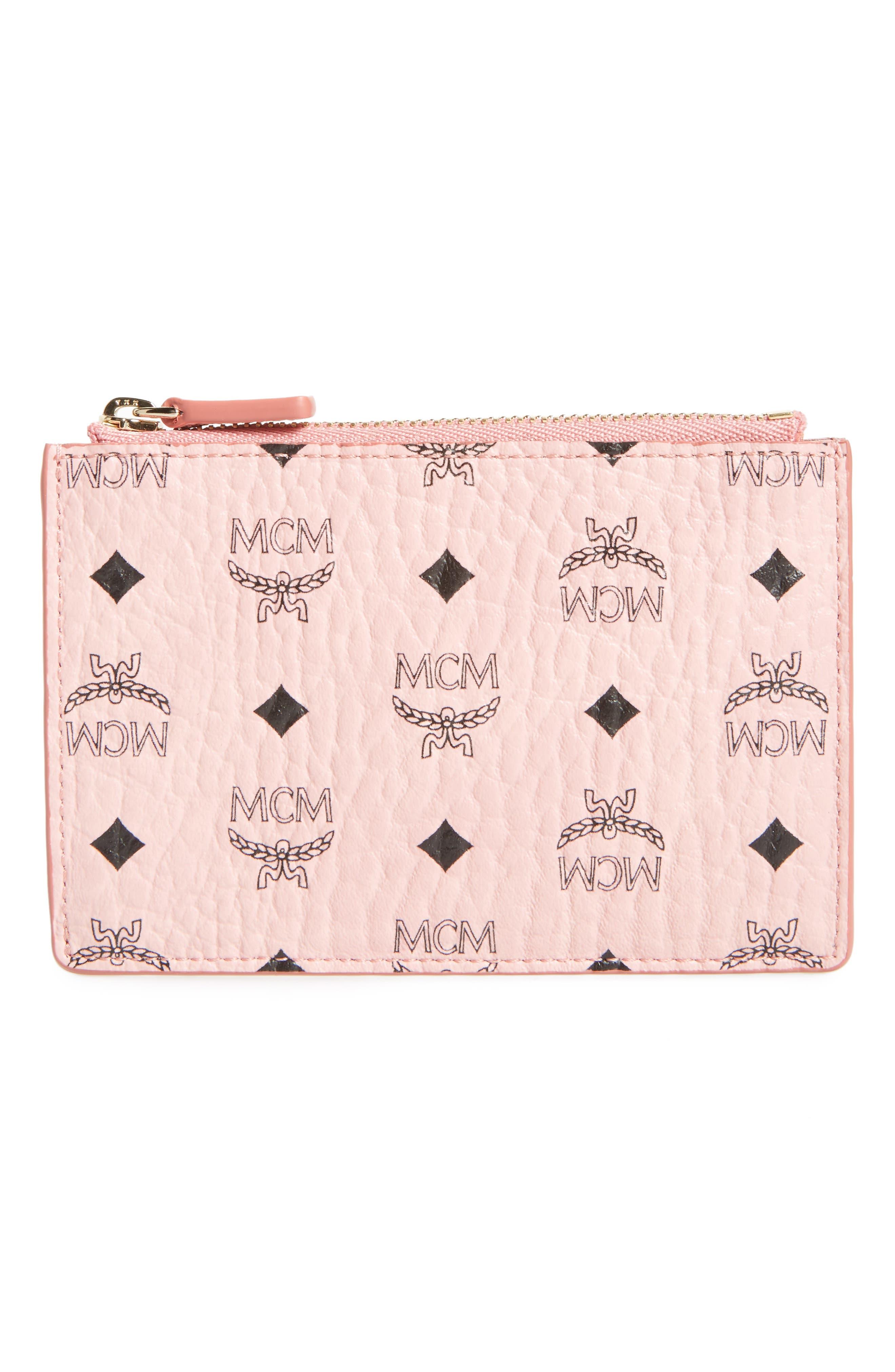 MCM Mini Visetos Original Key Pouch