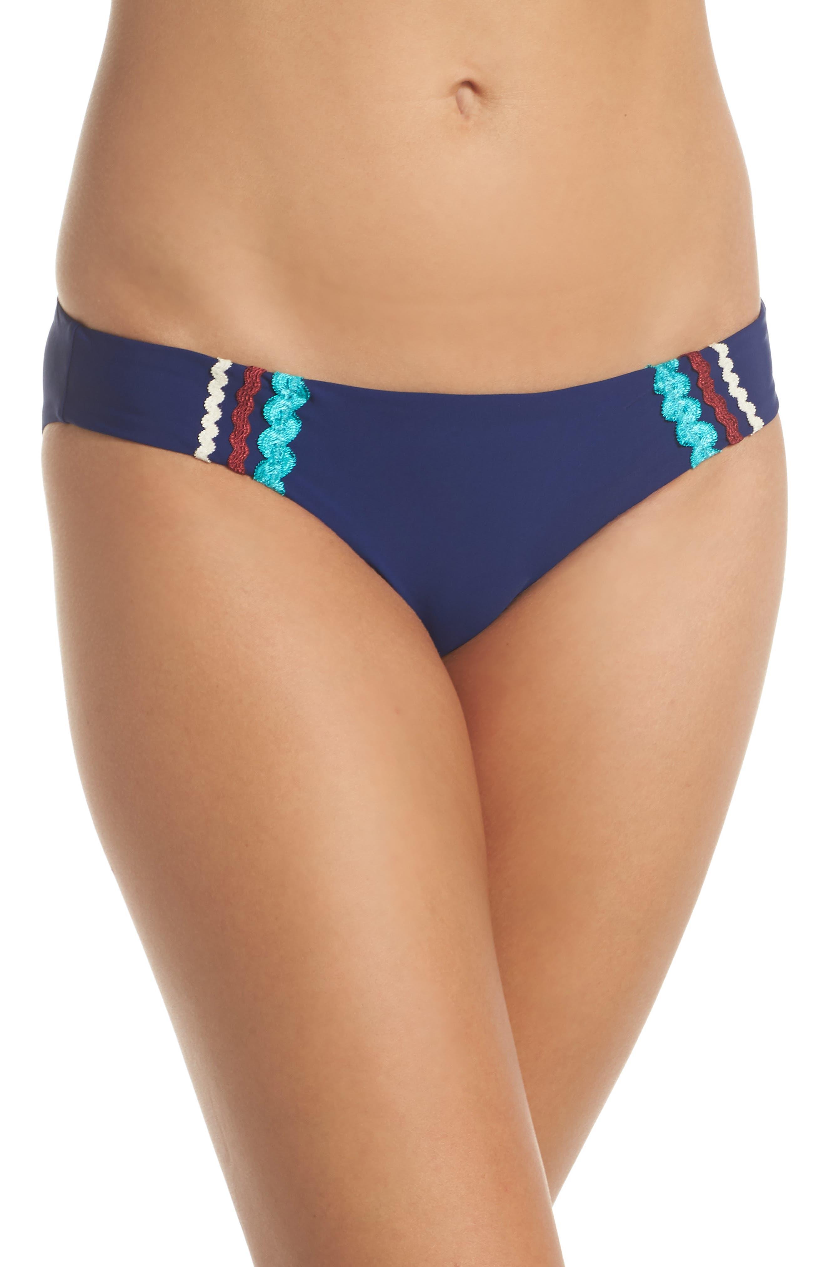 Bikini Bottoms,                             Main thumbnail 1, color,                             Navy