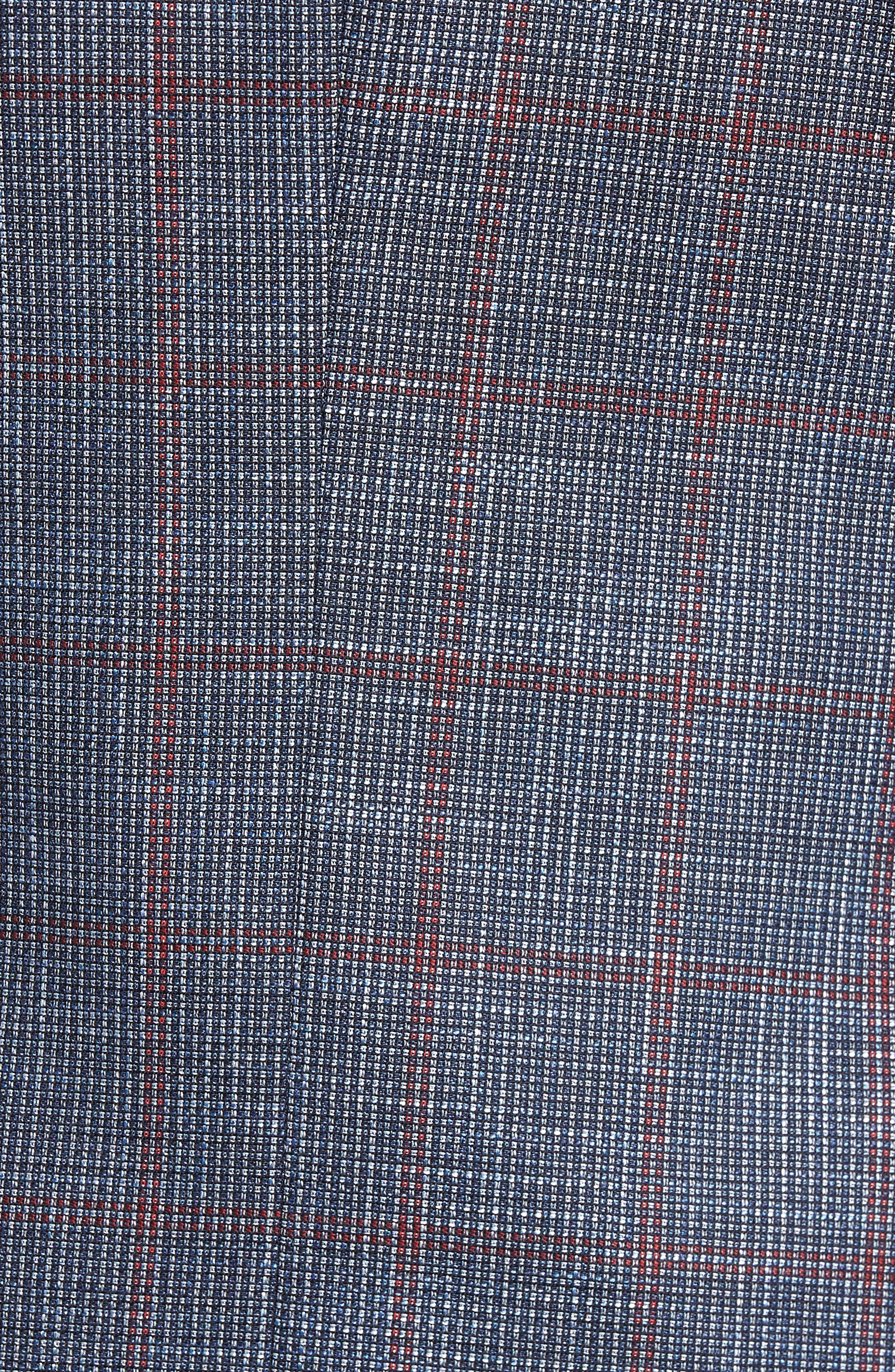 Hutsons Trim Fit Stretch Windowpane Wool Blend Sport Coat,                             Alternate thumbnail 5, color,                             Open Blue