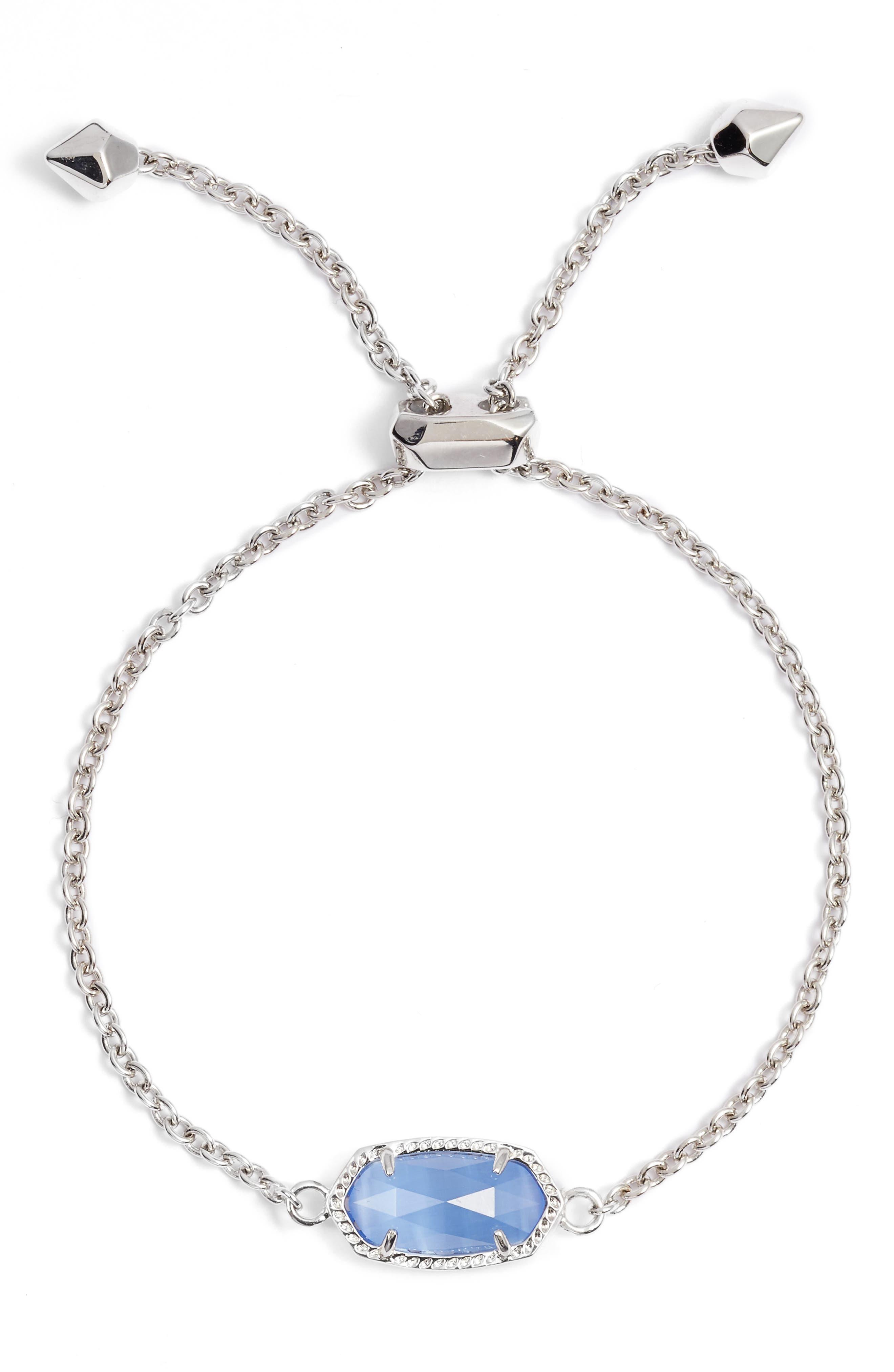 Elaina Bracelet,                         Main,                         color, Periwinkle Cats Eye/ Silver