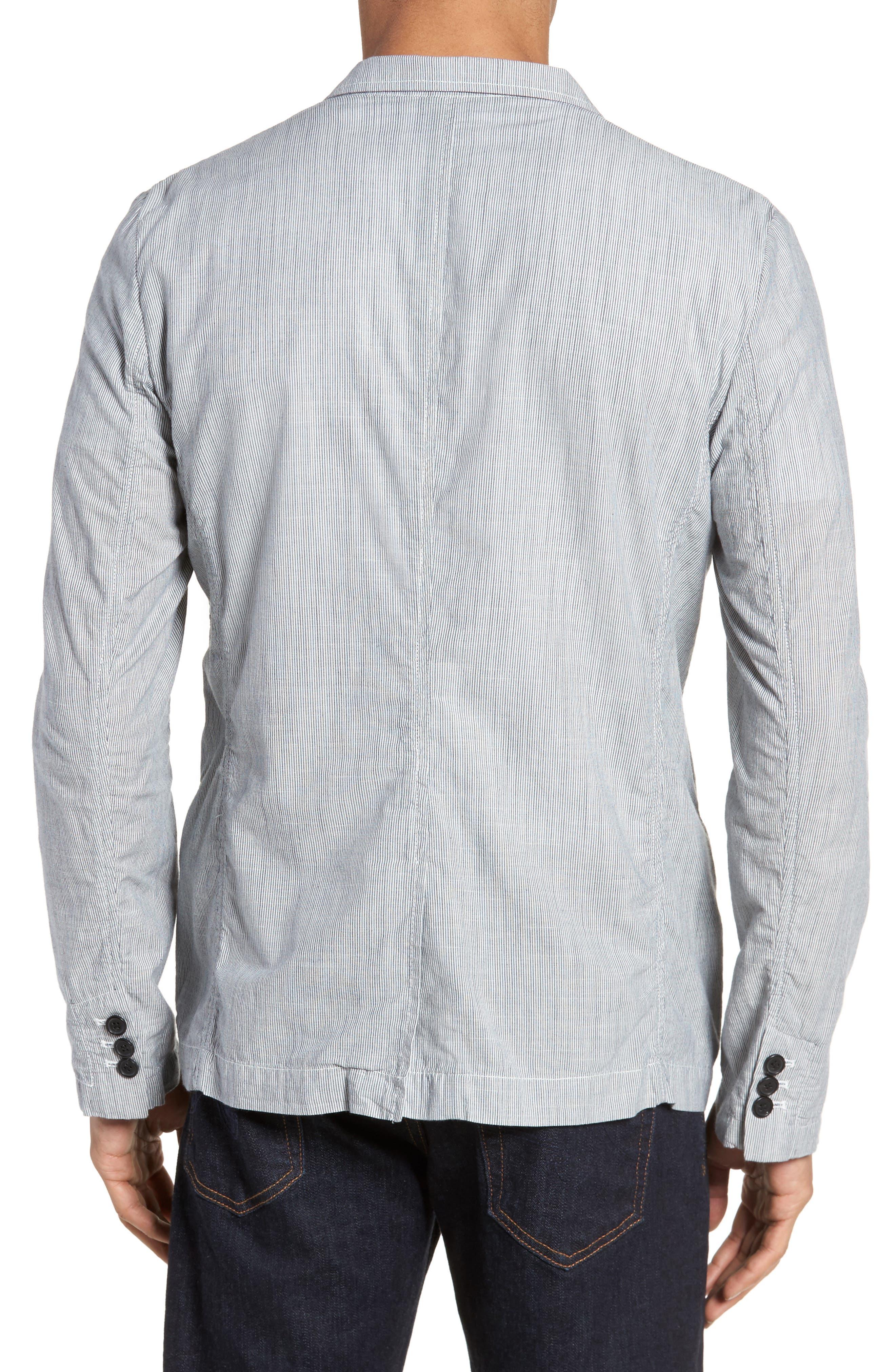 Stripe Cotton Blazer,                             Alternate thumbnail 2, color,                             True Gray