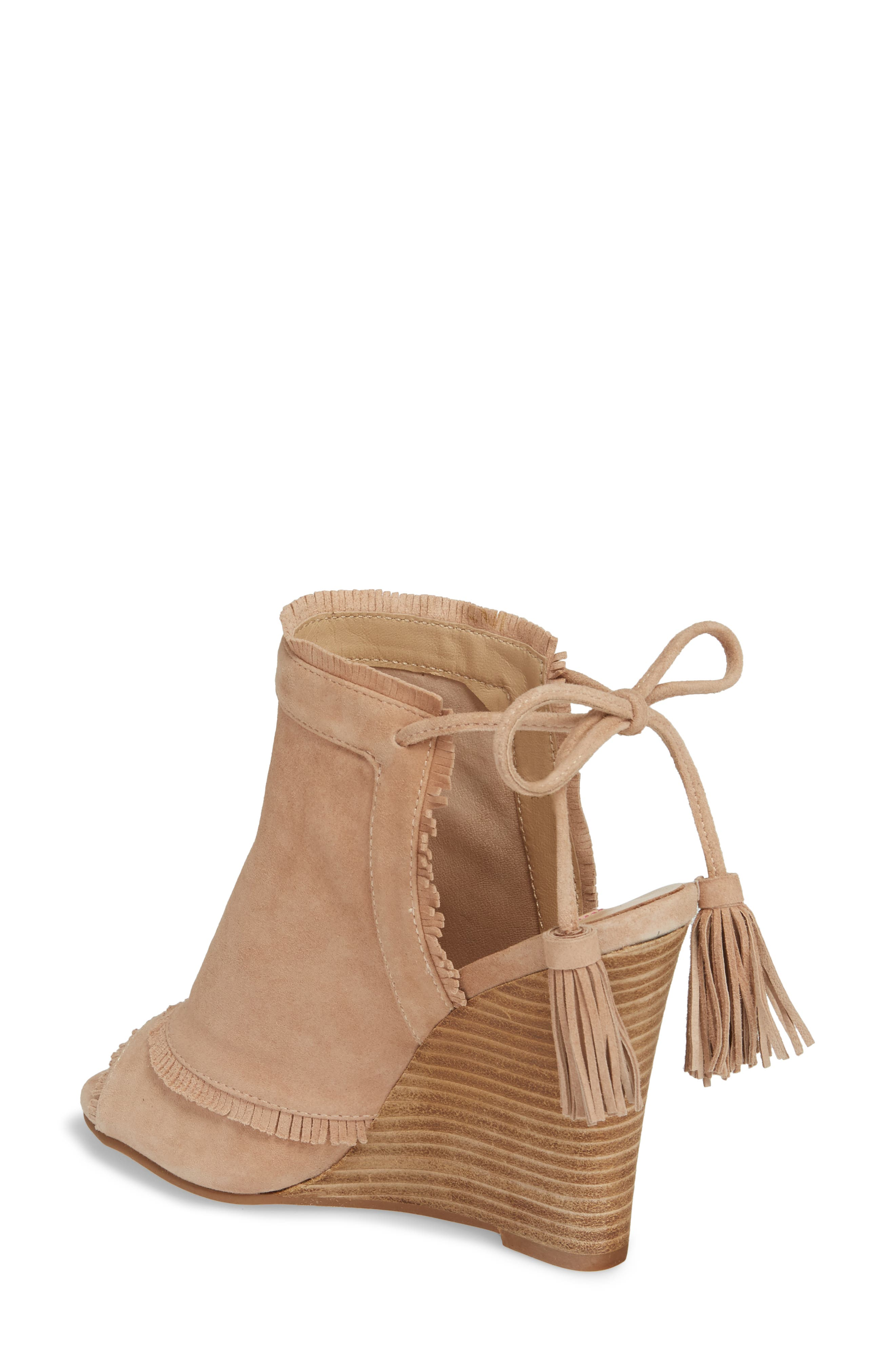 Leilani Wedge,                             Alternate thumbnail 2, color,                             Tigers Eye Suede