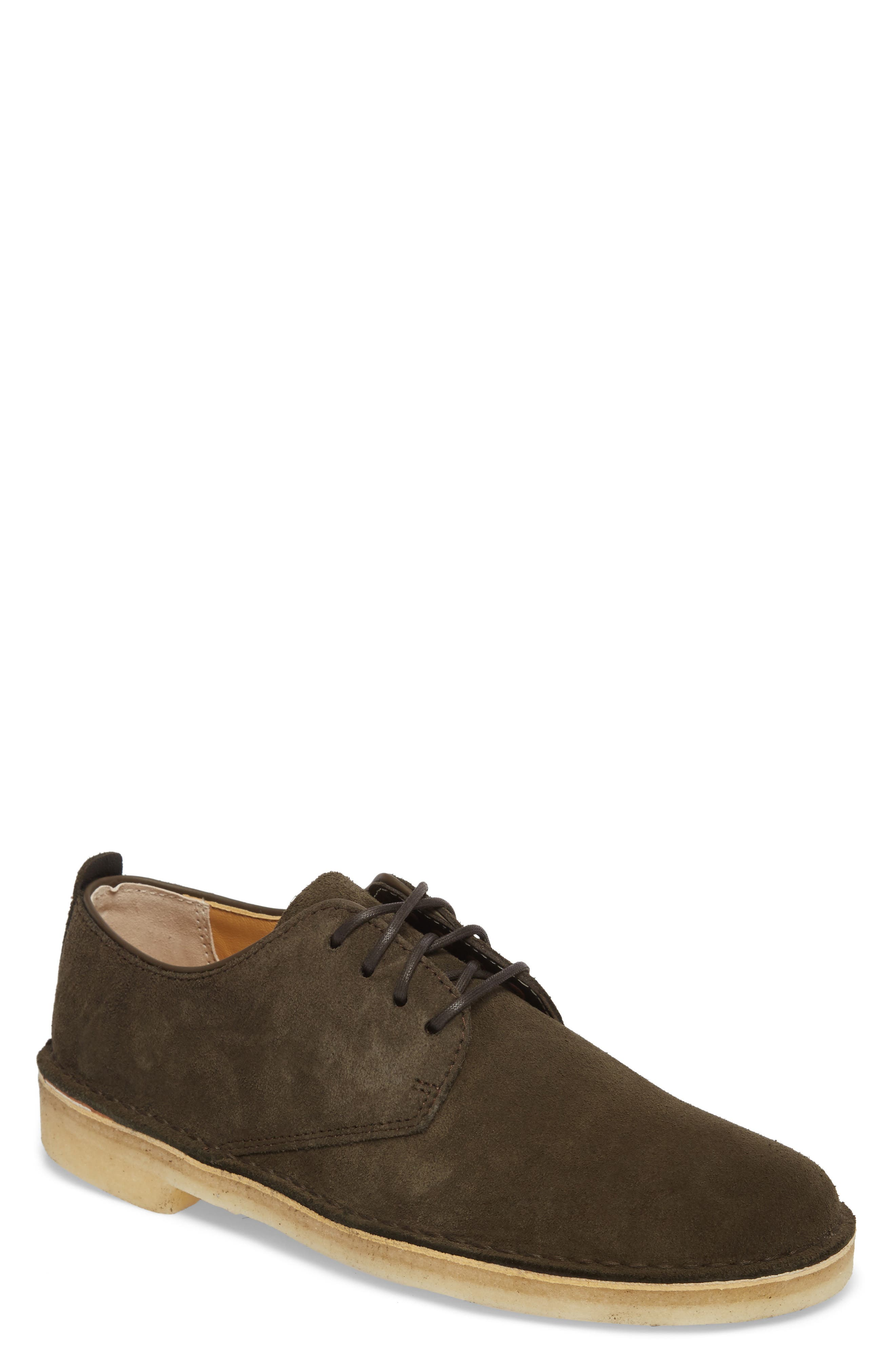 Desert London Suede Plain Toe Derby,                             Main thumbnail 1, color,                             Peat Suede
