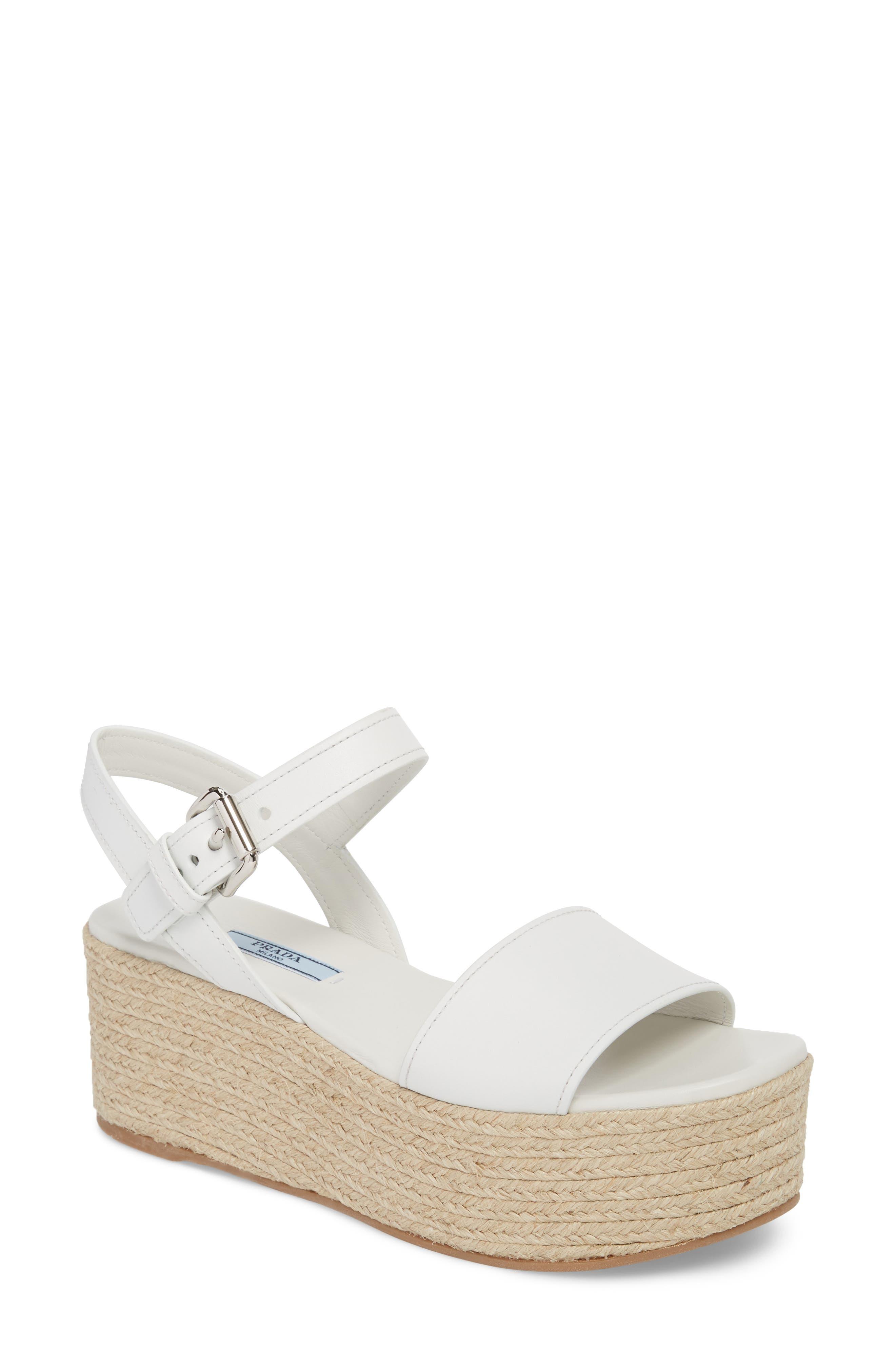 Prada Platform Espadrille Sandal (Women)