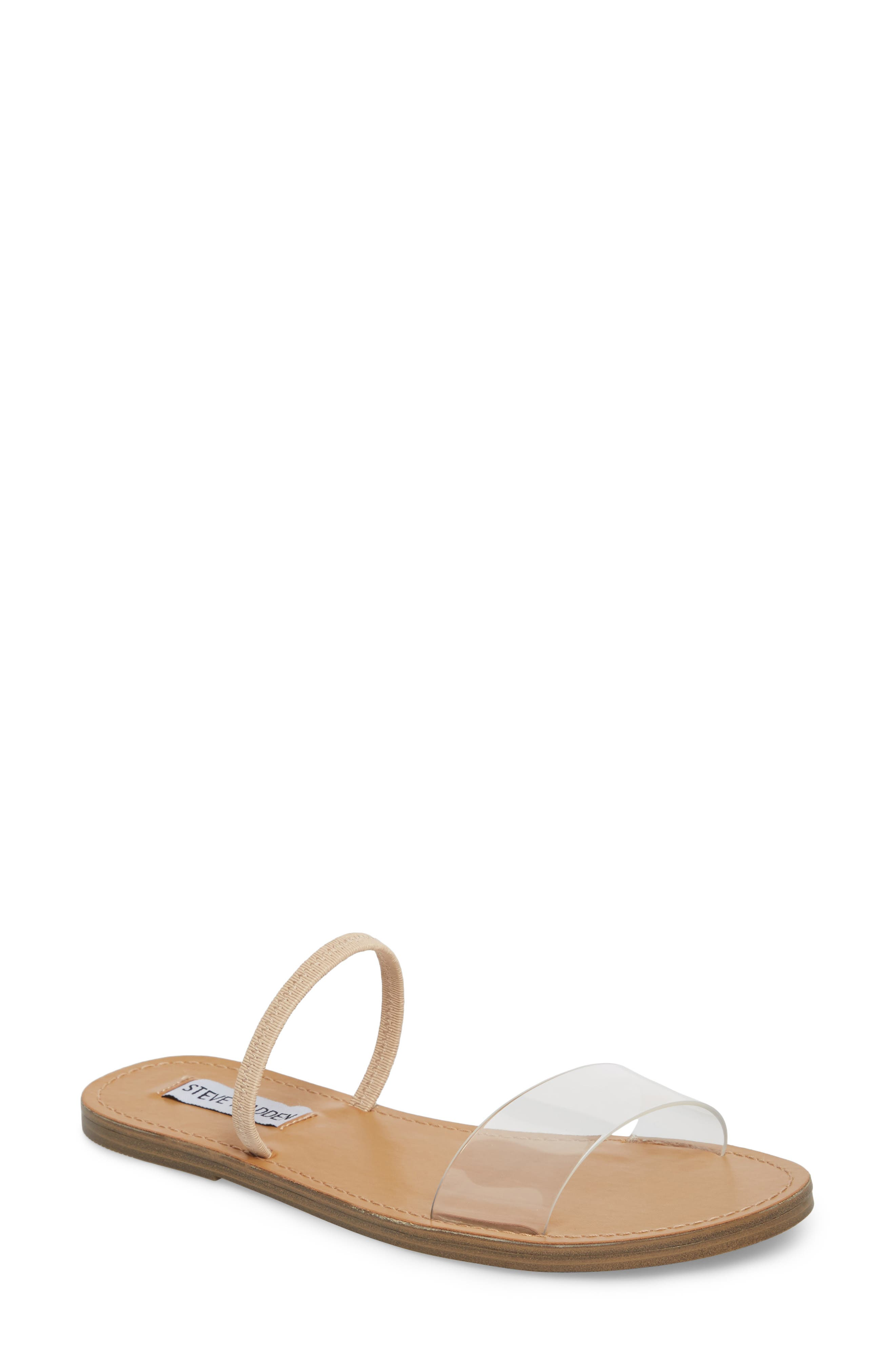Dasha Strappy Slide Sandal,                             Main thumbnail 1, color,                             Clear