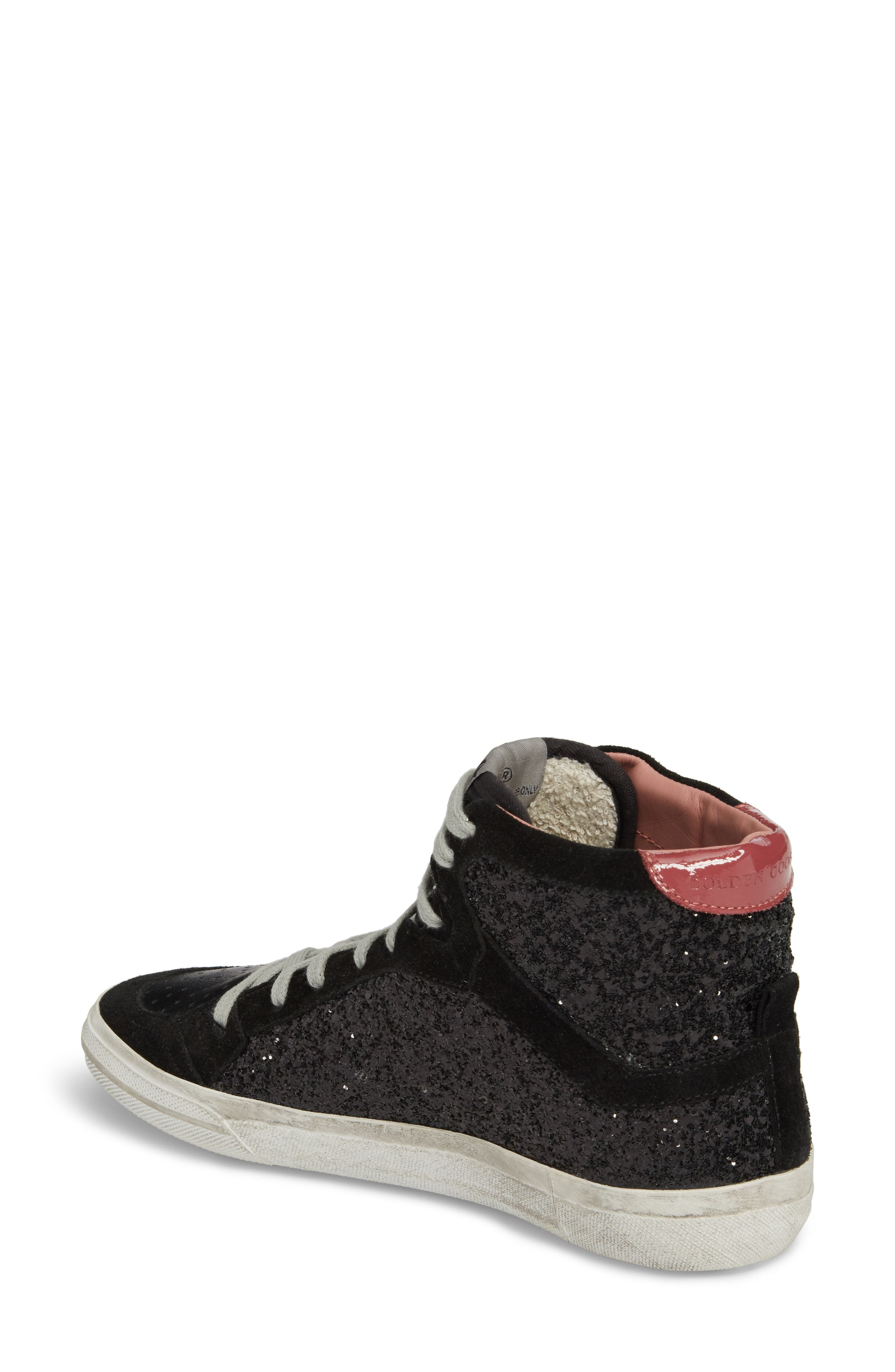2.12 Star High Top Sneaker,                             Alternate thumbnail 2, color,                             Black