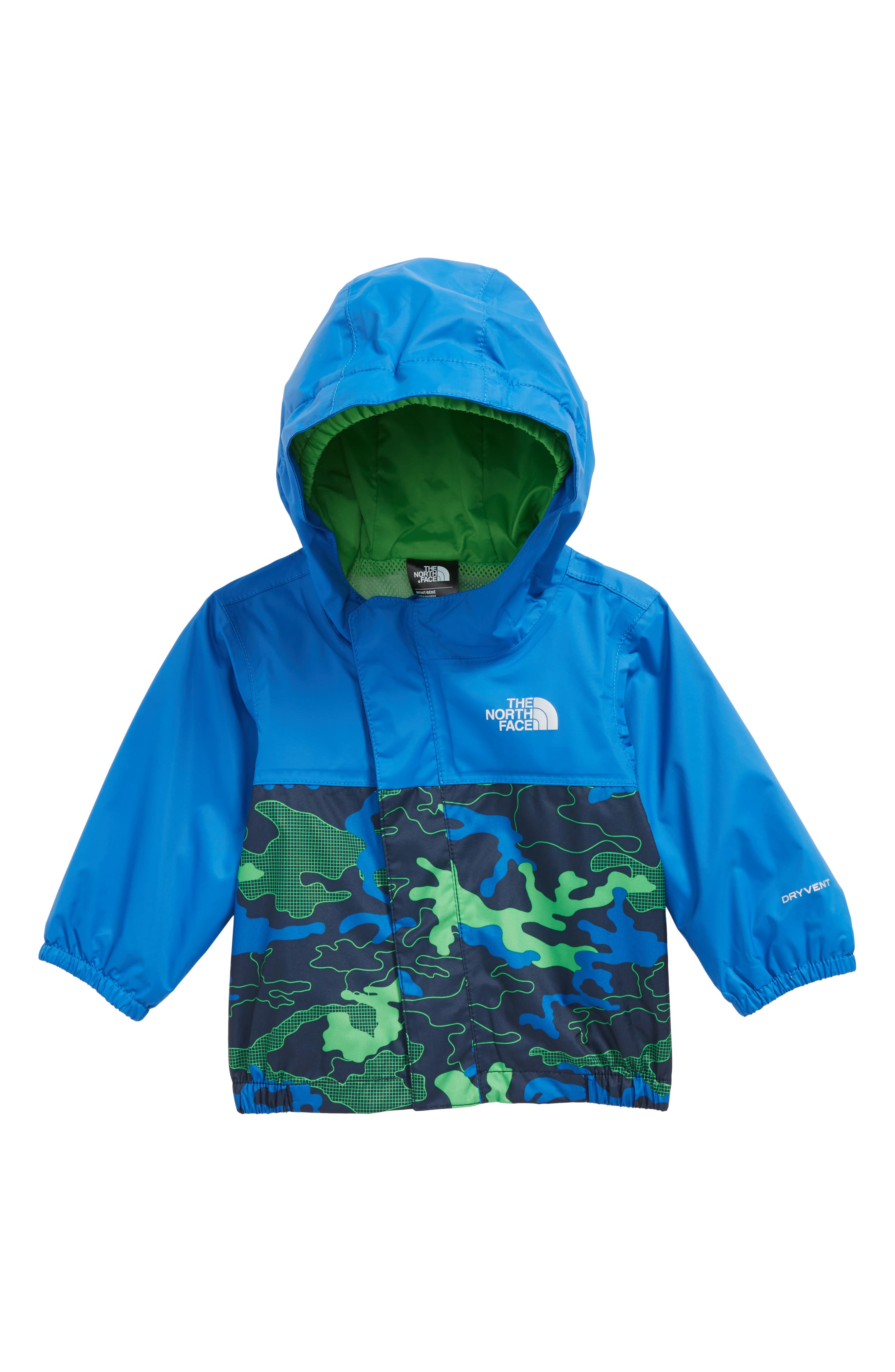 Tailout Hooded Rain Jacket,                         Main,                         color, Cosmic Blue/ Woodland Camo