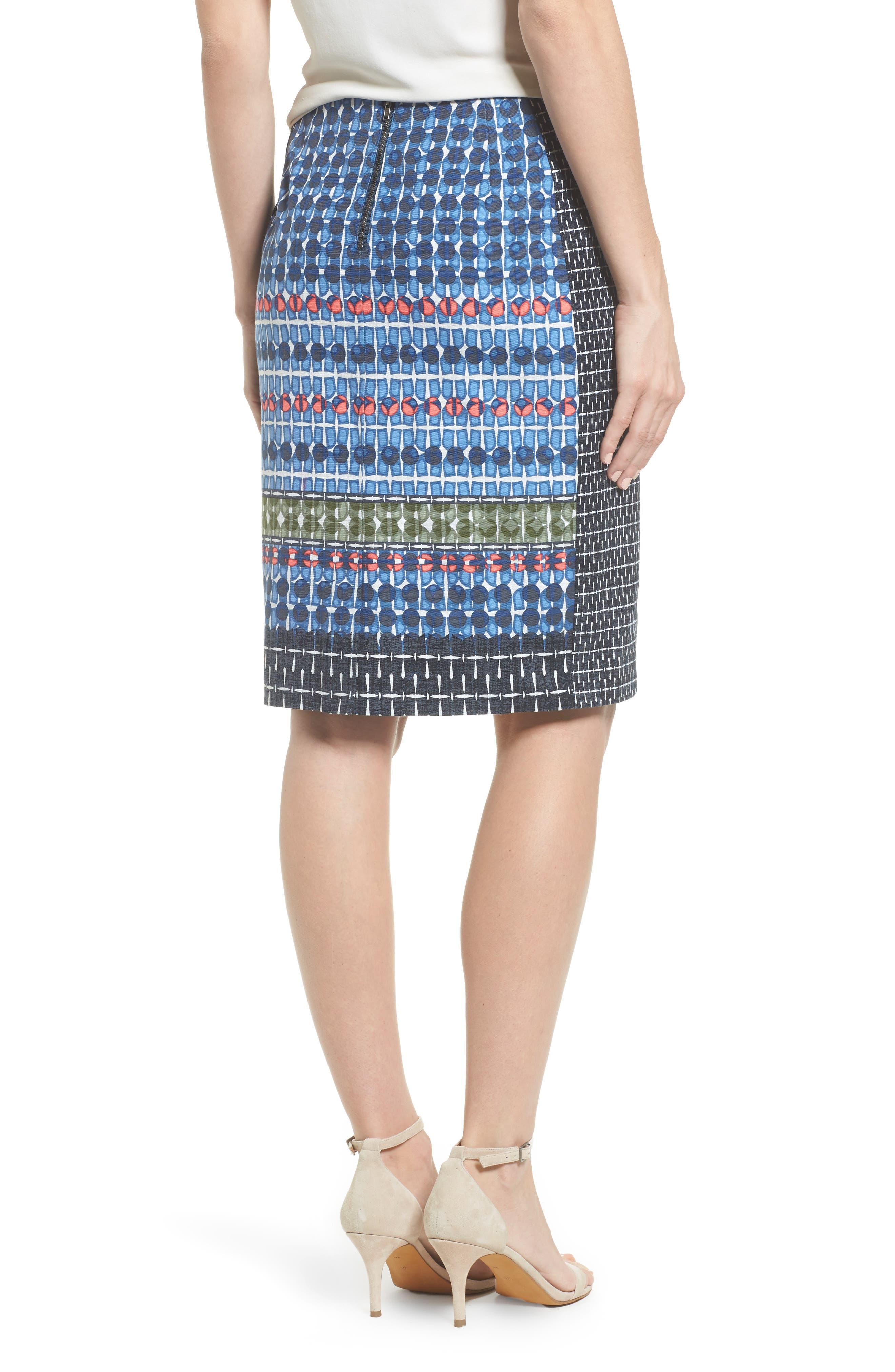 NIC + ZOE Tile Pencil Skirt,                             Alternate thumbnail 2, color,                             Multi