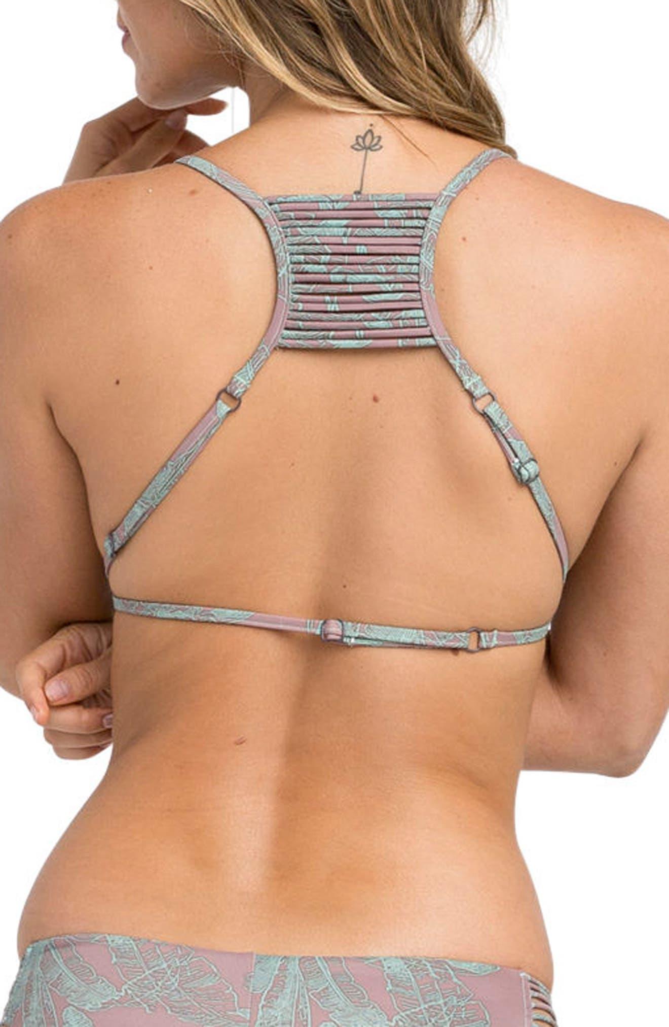 Palmer Triangle Bikini Top,                             Alternate thumbnail 2, color,                             Raisin