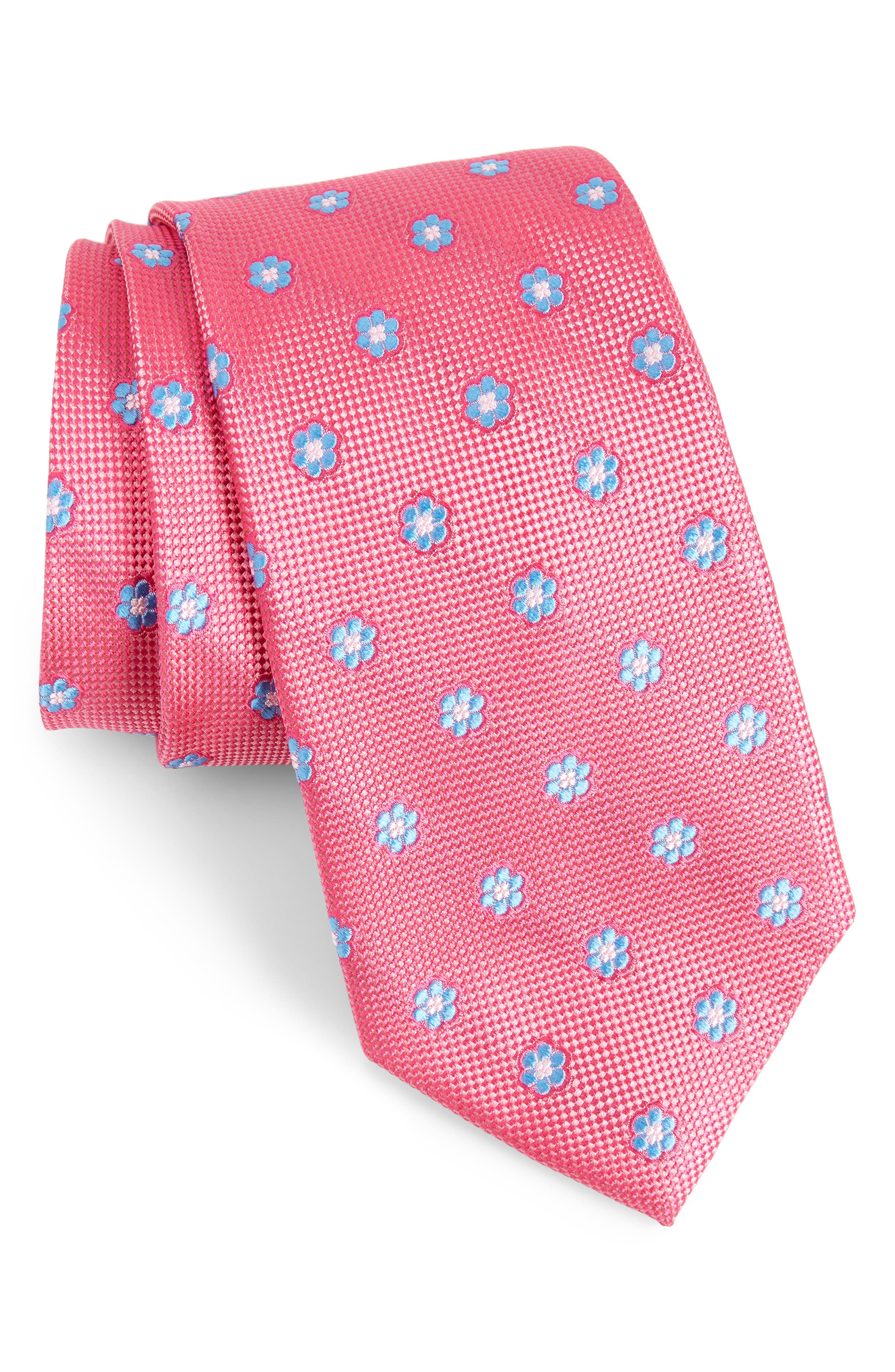 Main Image - Calibrate Cloisters Neat Silk Tie (X-Long)