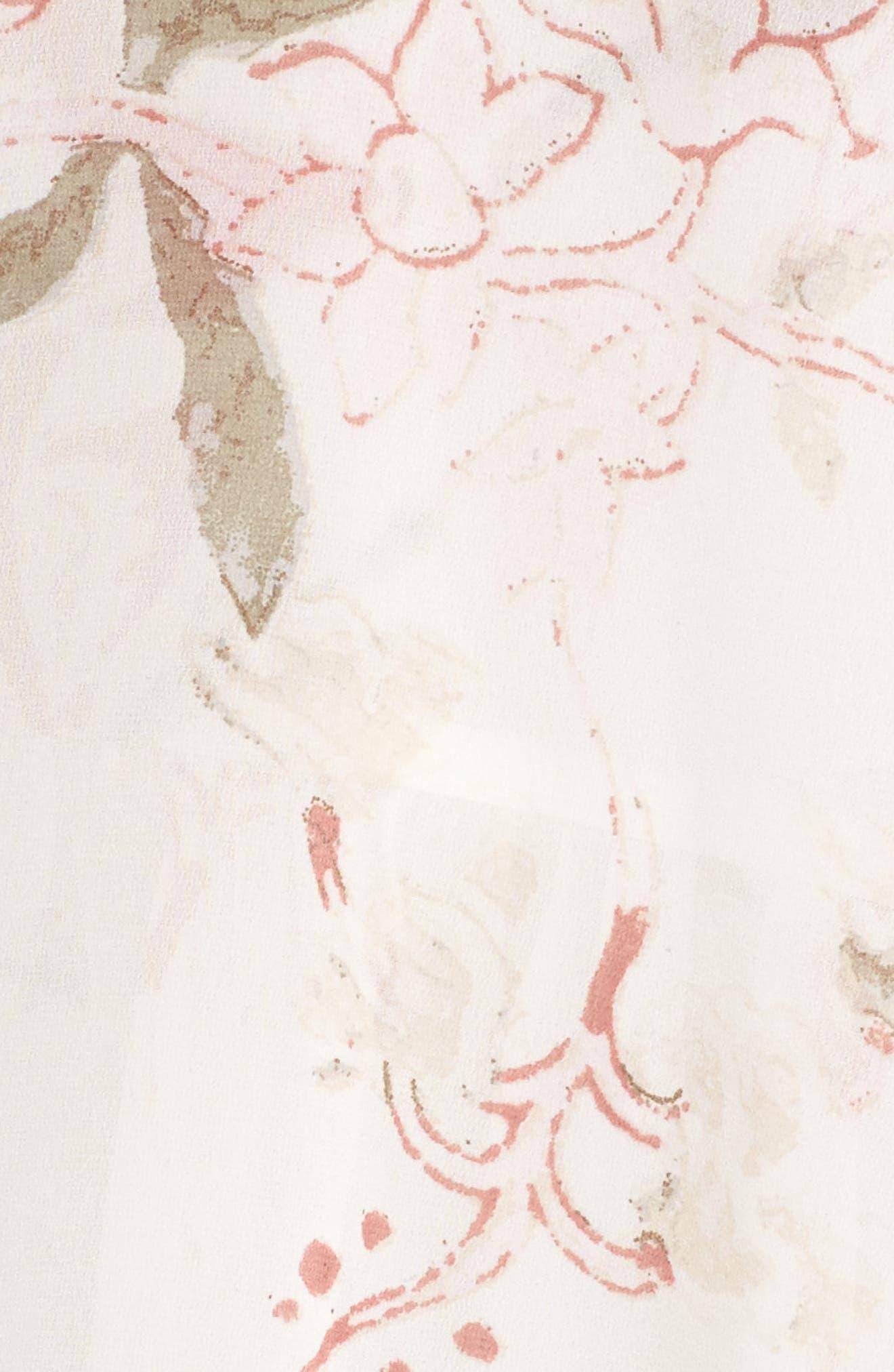 Alternate Image 5  - Lucky Brand Jenna Print Peasant Top (Plus Size)
