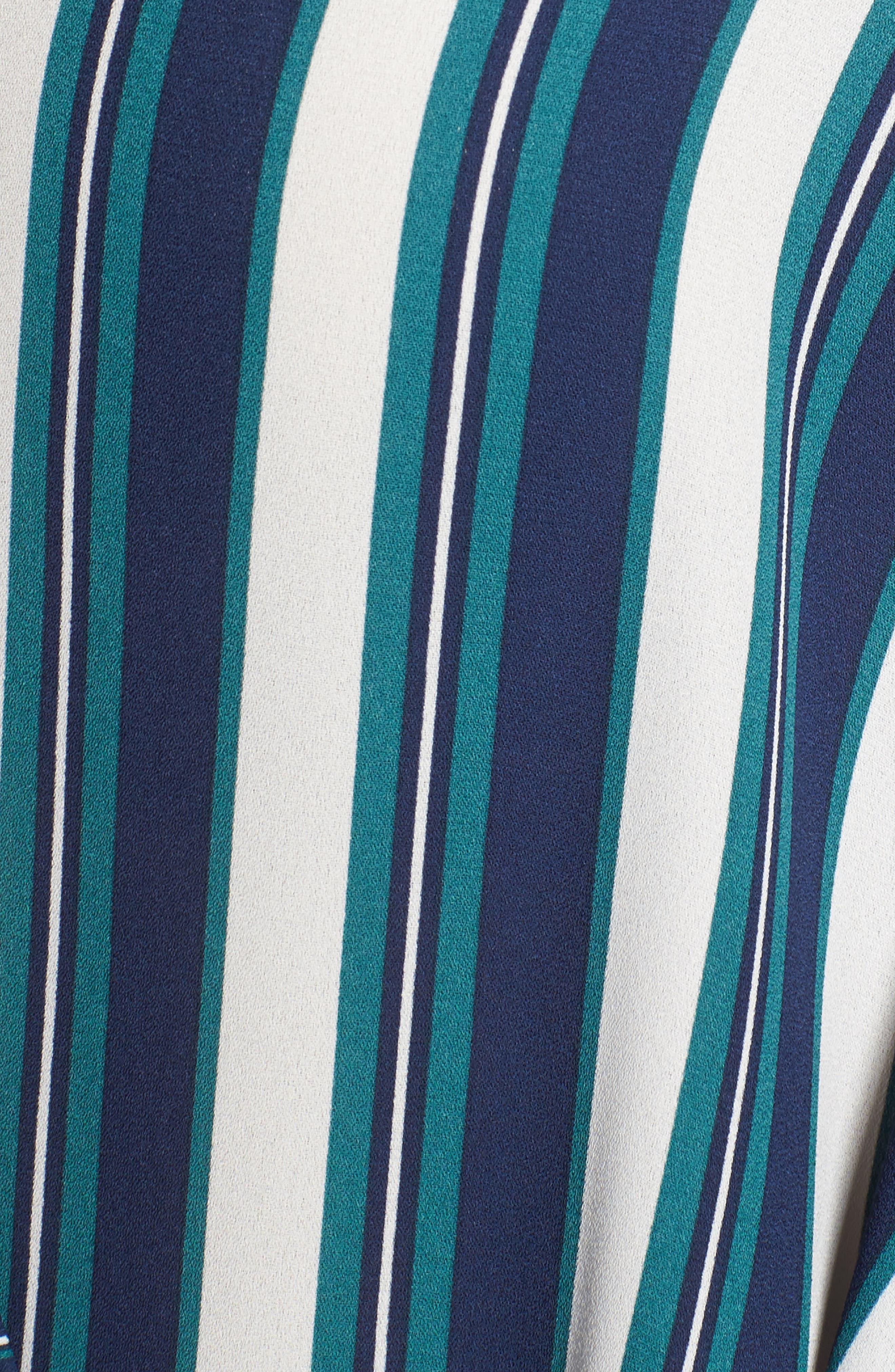 Stripe Wrap Top,                             Alternate thumbnail 5, color,                             Green Berry Marla Stripe