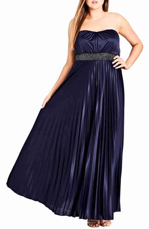 998d911533fa City Chic Helena Embellished Strapless Maxi Dress (Plus Size)