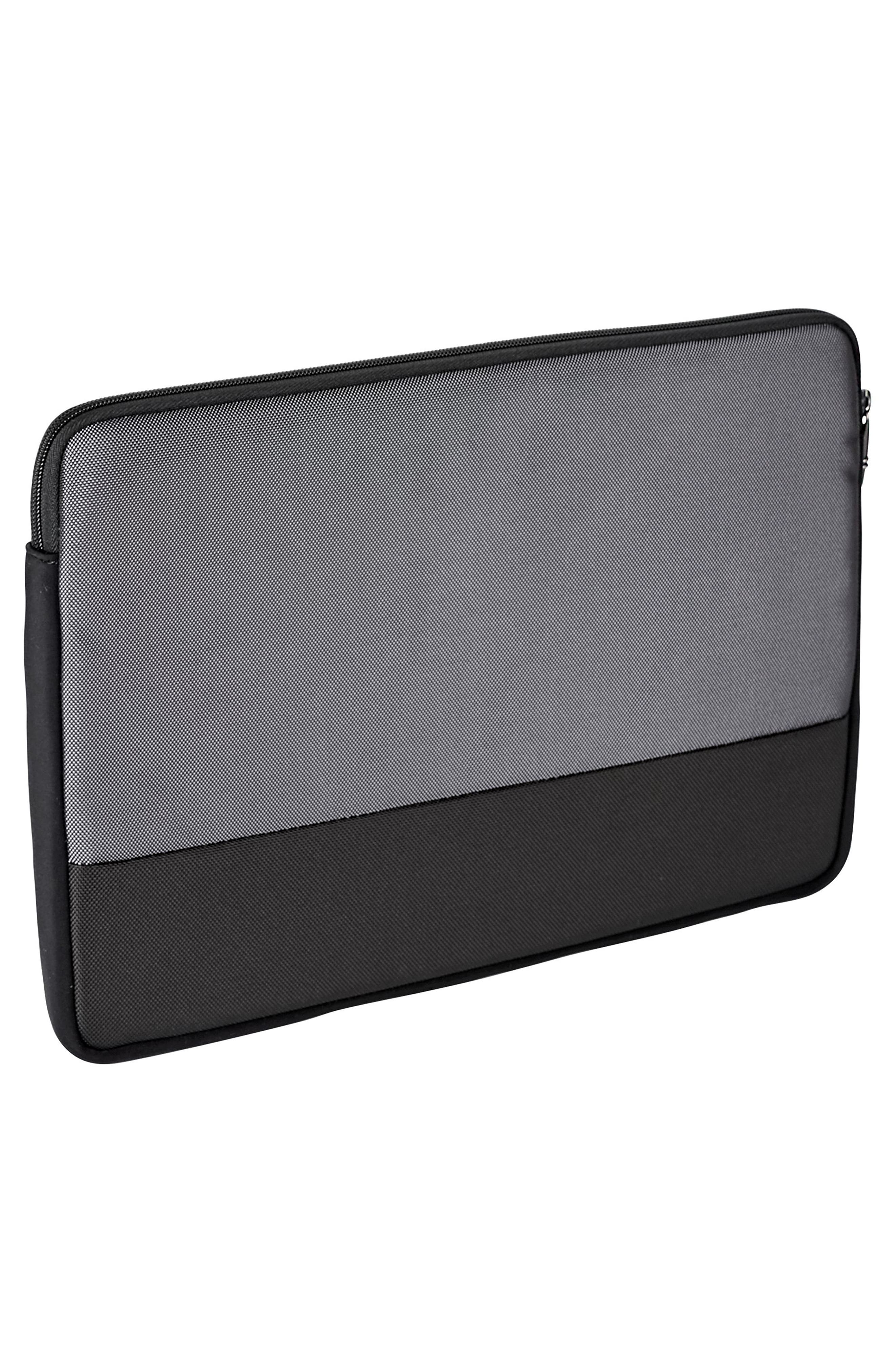 Alpha 2 - Large Laptop Cover,                             Alternate thumbnail 3, color,                             Pewter