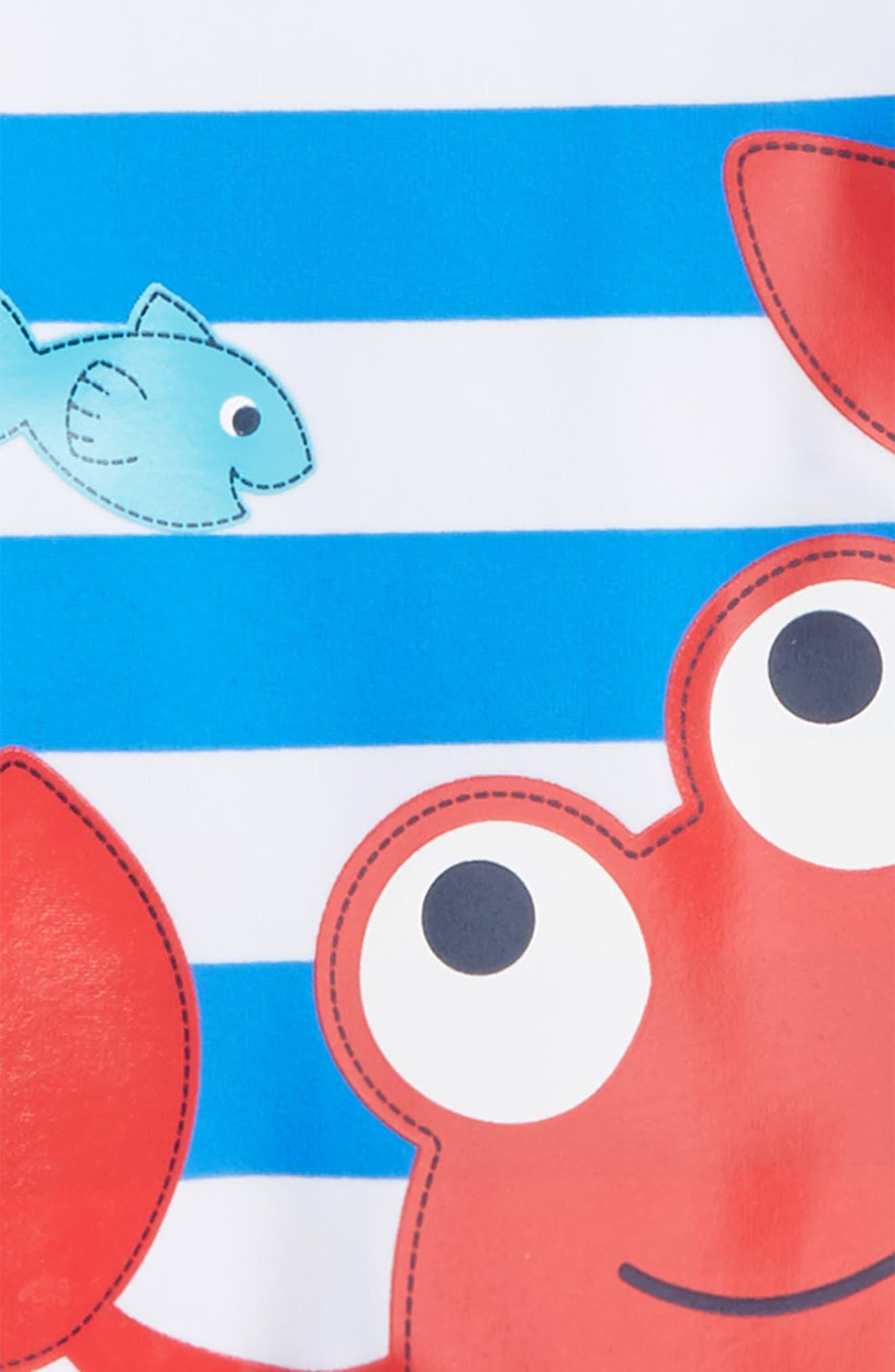 Alternate Image 2  - Little Me Crab UPF 50+ Rashguard (Baby Boys)