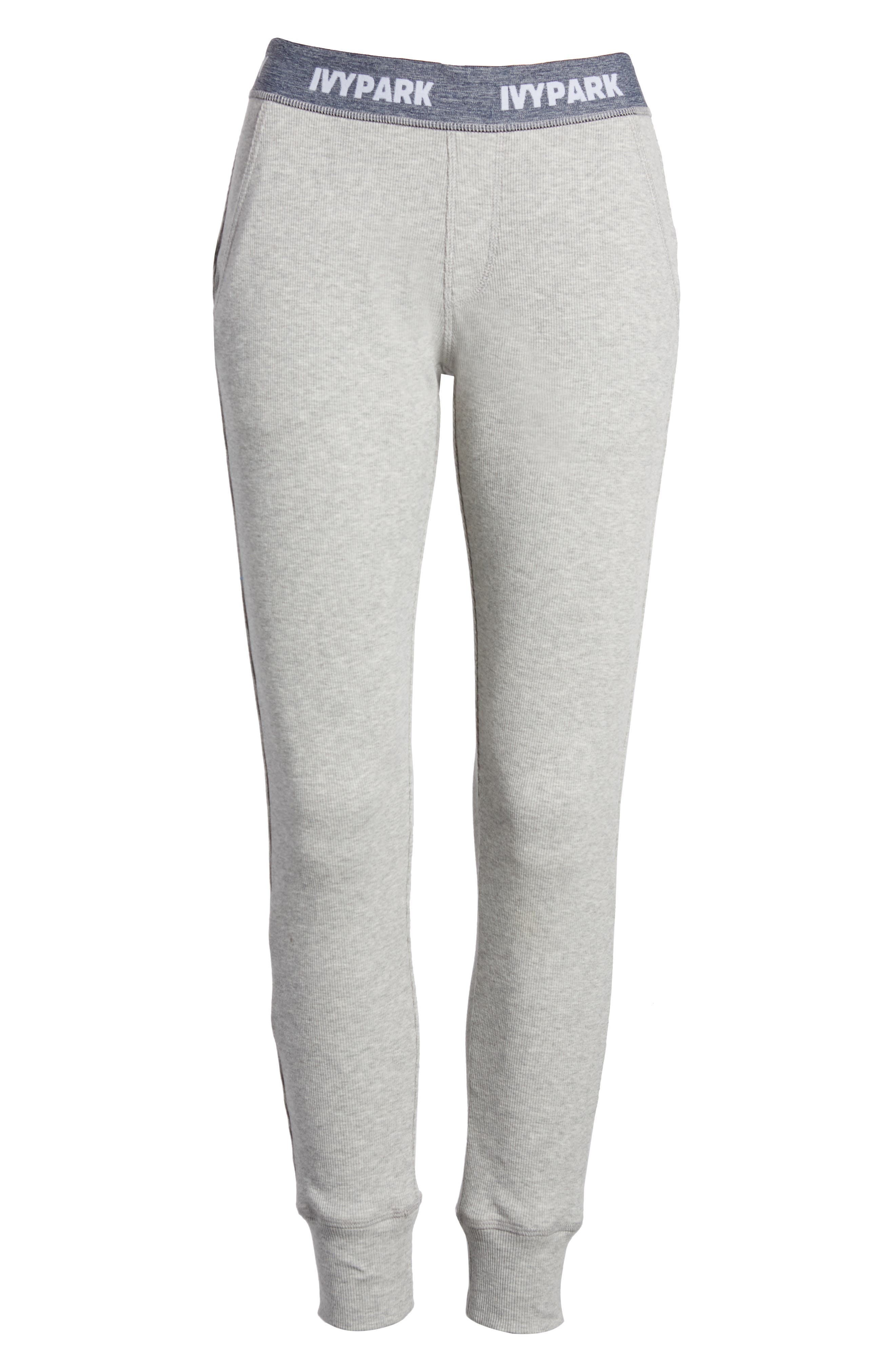 Loose Fit Marl Rib Leggings,                             Alternate thumbnail 7, color,                             Grey Marl