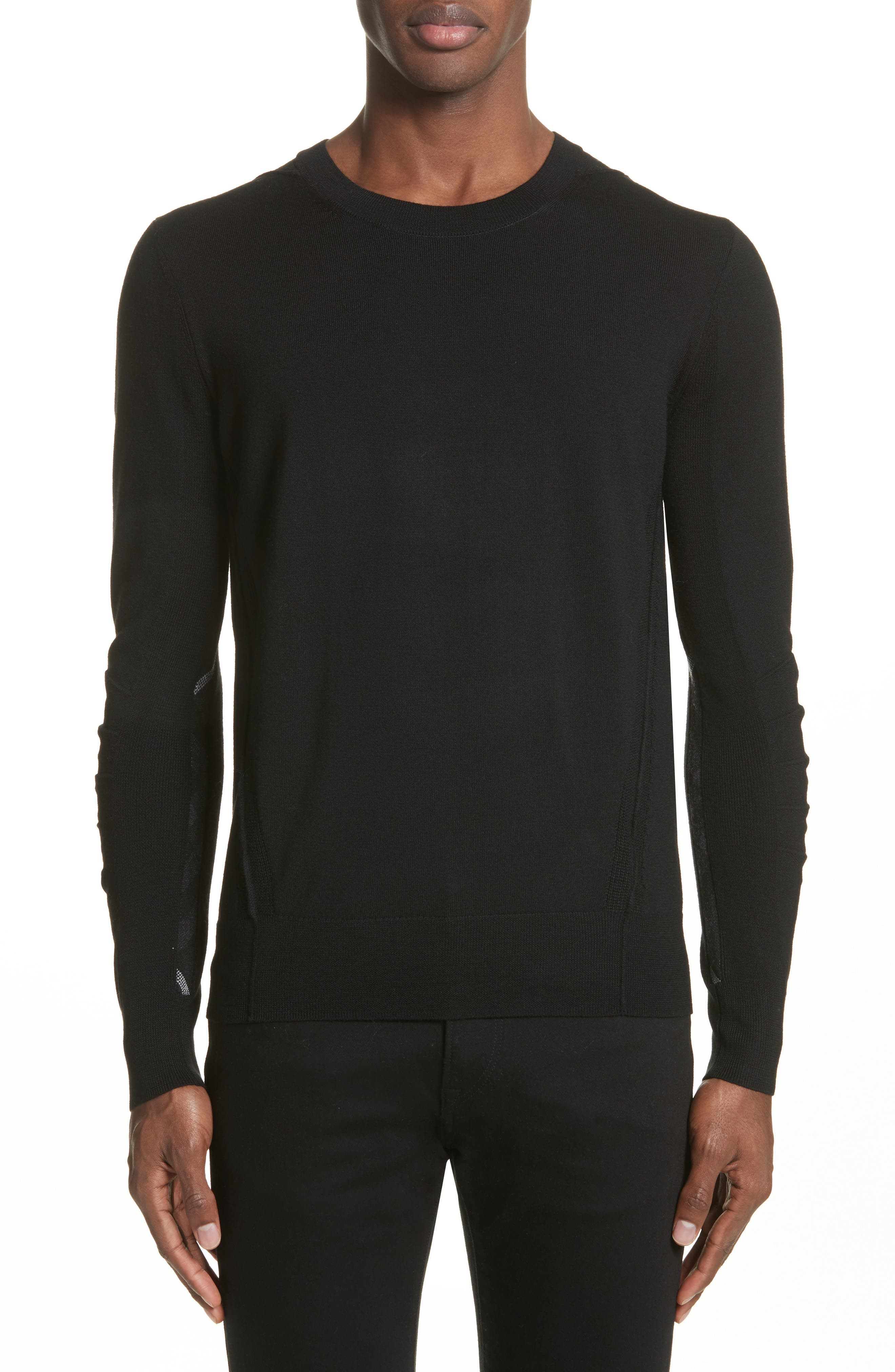 Main Image - Burberry Carter Merino Wool Crewneck Sweater