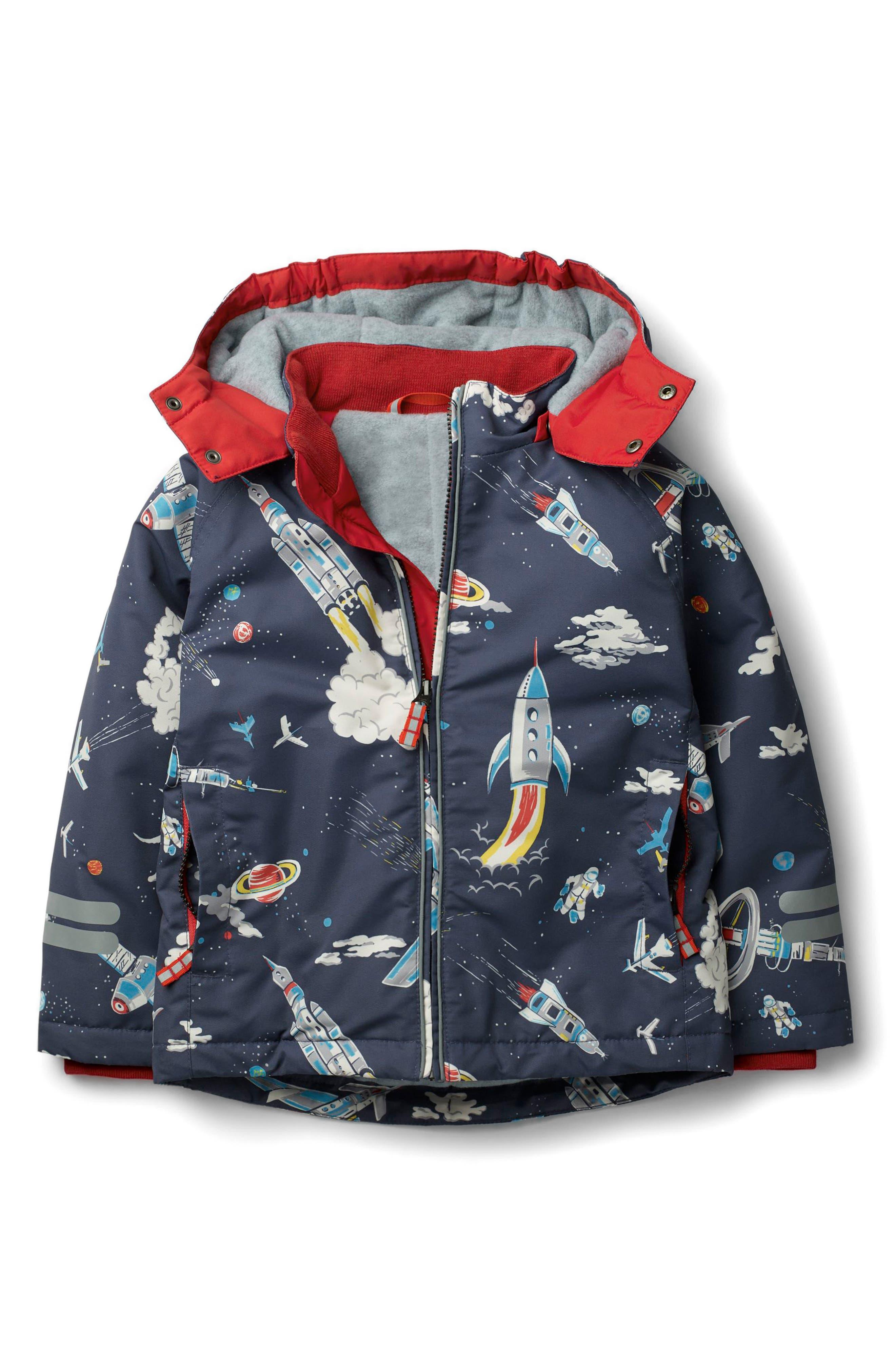 Mini Boden Fleece Lined Water-Resistant Anorak (Toddler Boys, Little Boys & Big Boys)