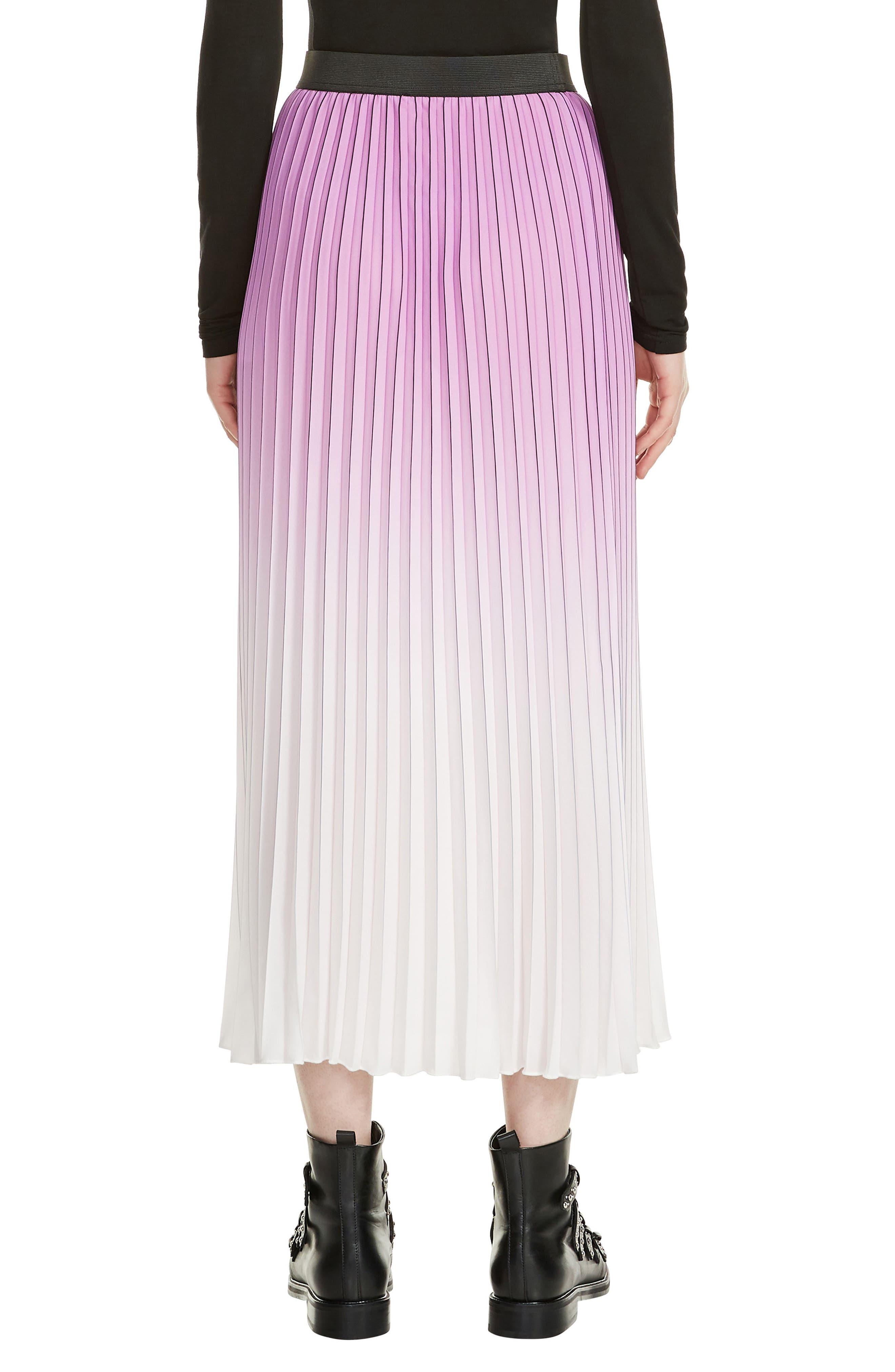 Jonael Pleated Midi Skirt,                             Alternate thumbnail 2, color,                             Purple
