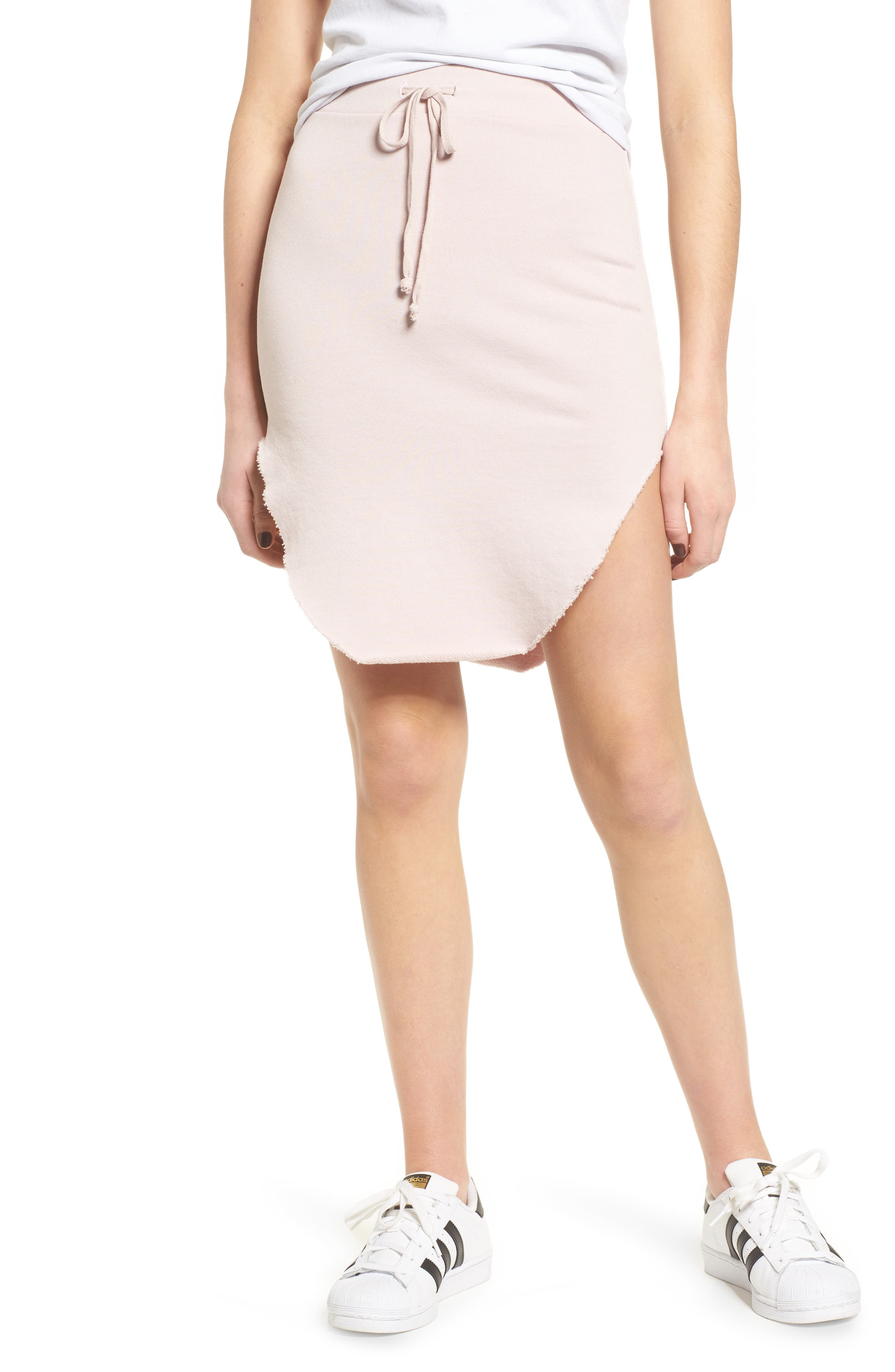 Tee Lab Short Fleece Skirt,                             Main thumbnail 1, color,                             Bazooka