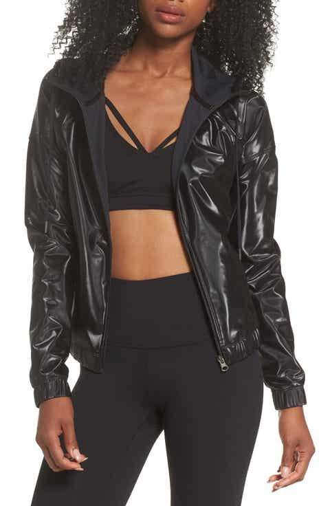 Zella Step It Up Hooded Bomber Jacket