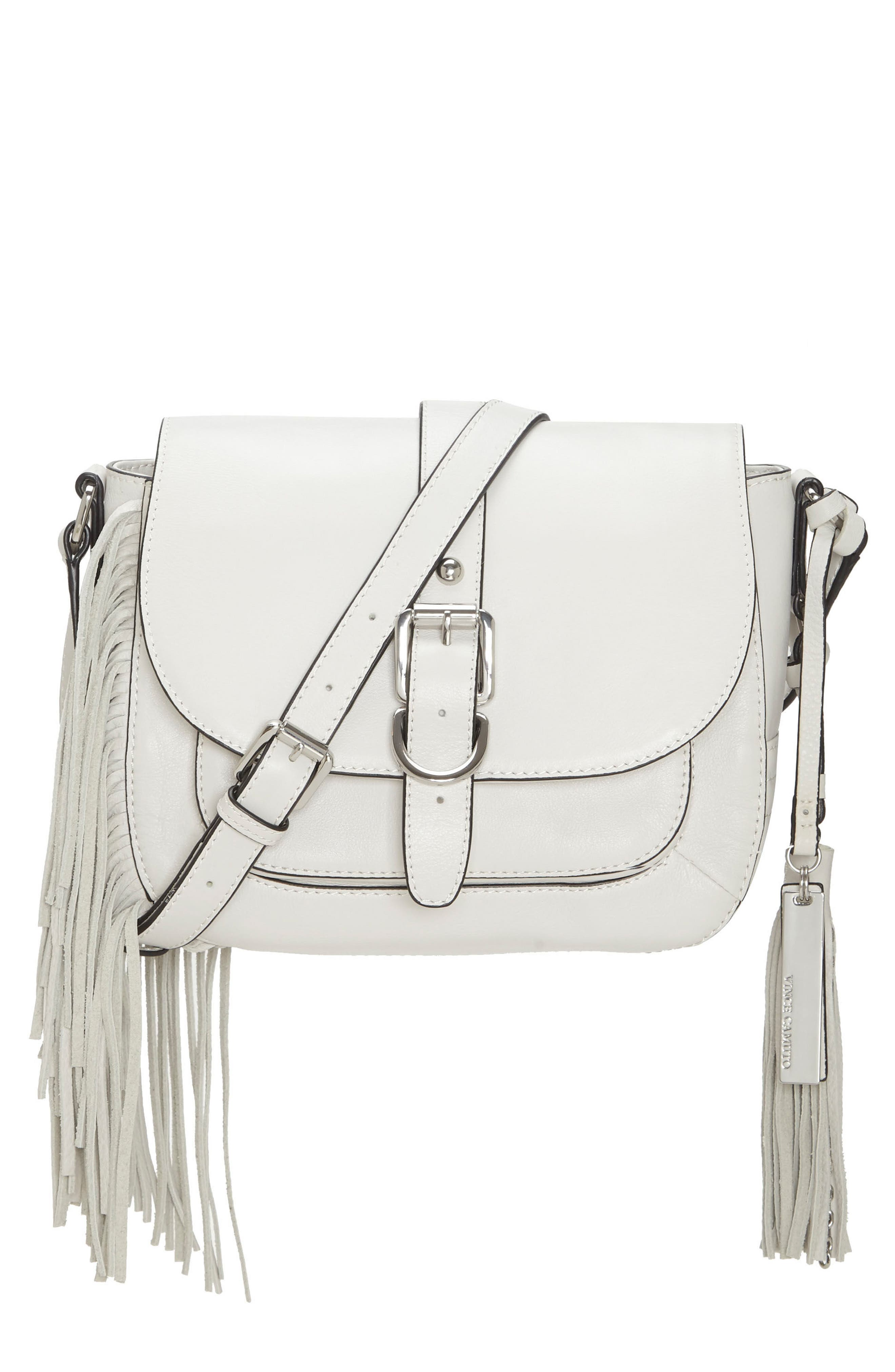 Hil Leather Crossbody Bag,                         Main,                         color, Vaporous Grey