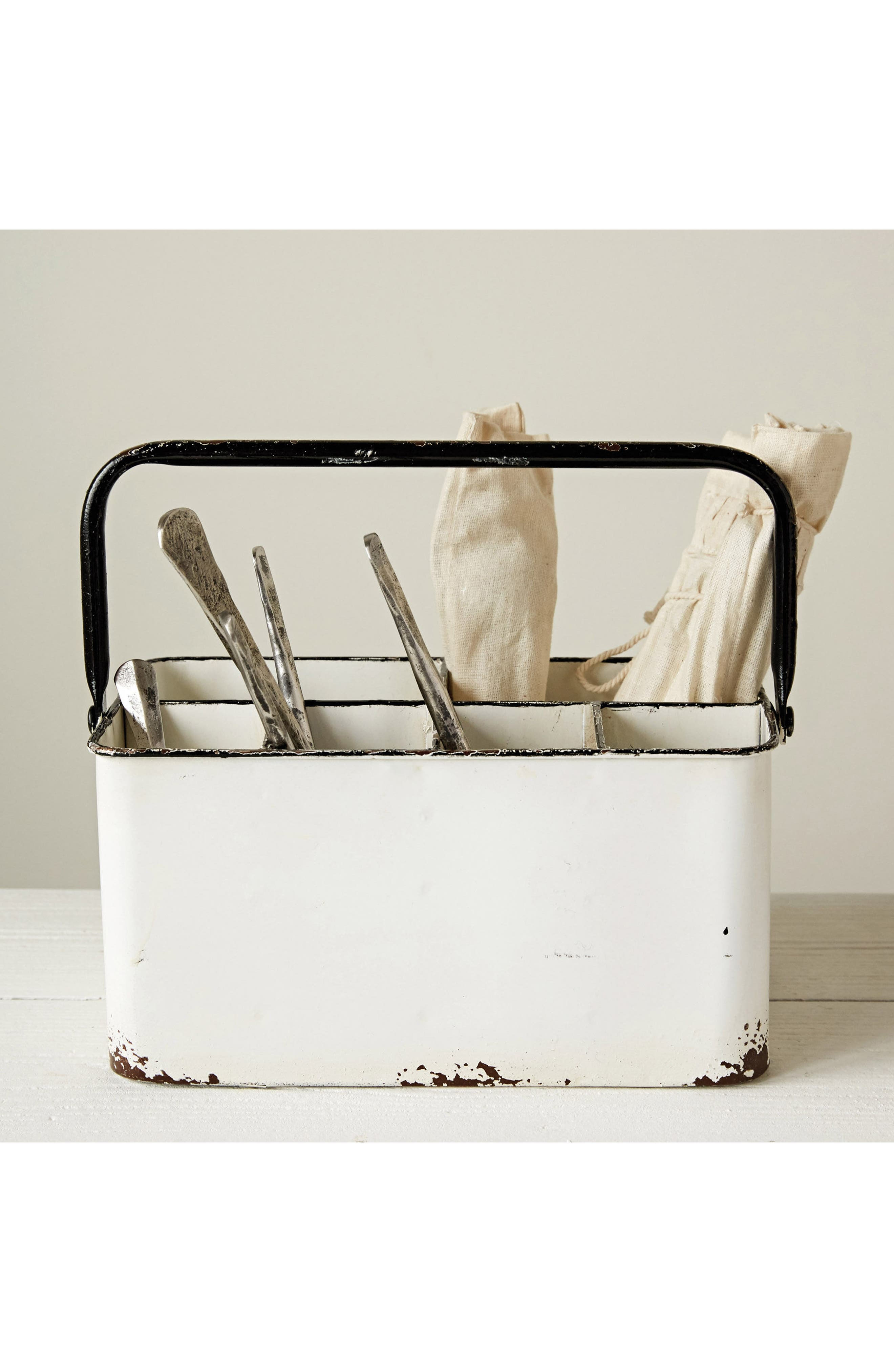 Metal Caddy,                             Alternate thumbnail 2, color,                             White