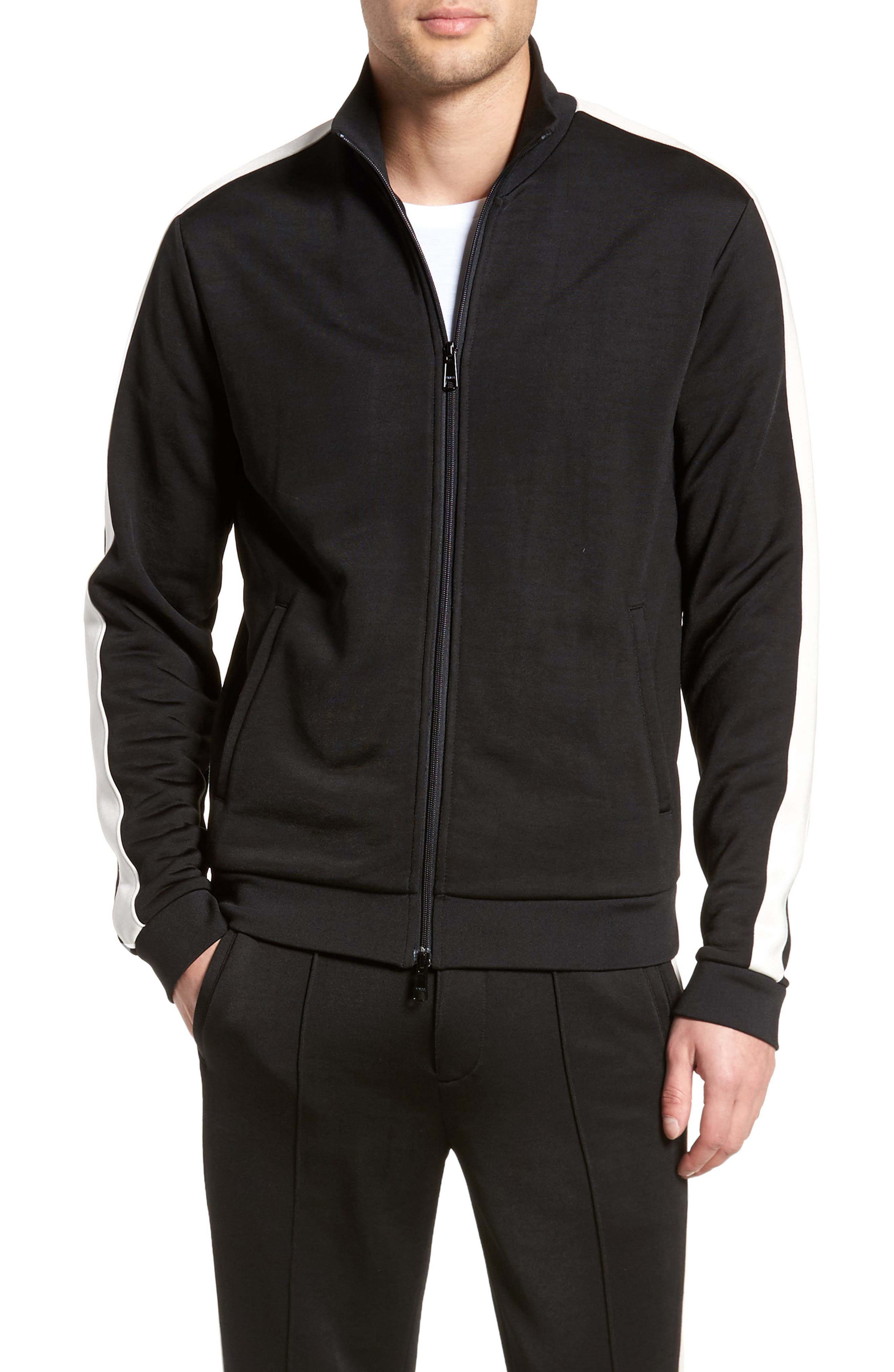Track Jacket,                         Main,                         color, Black