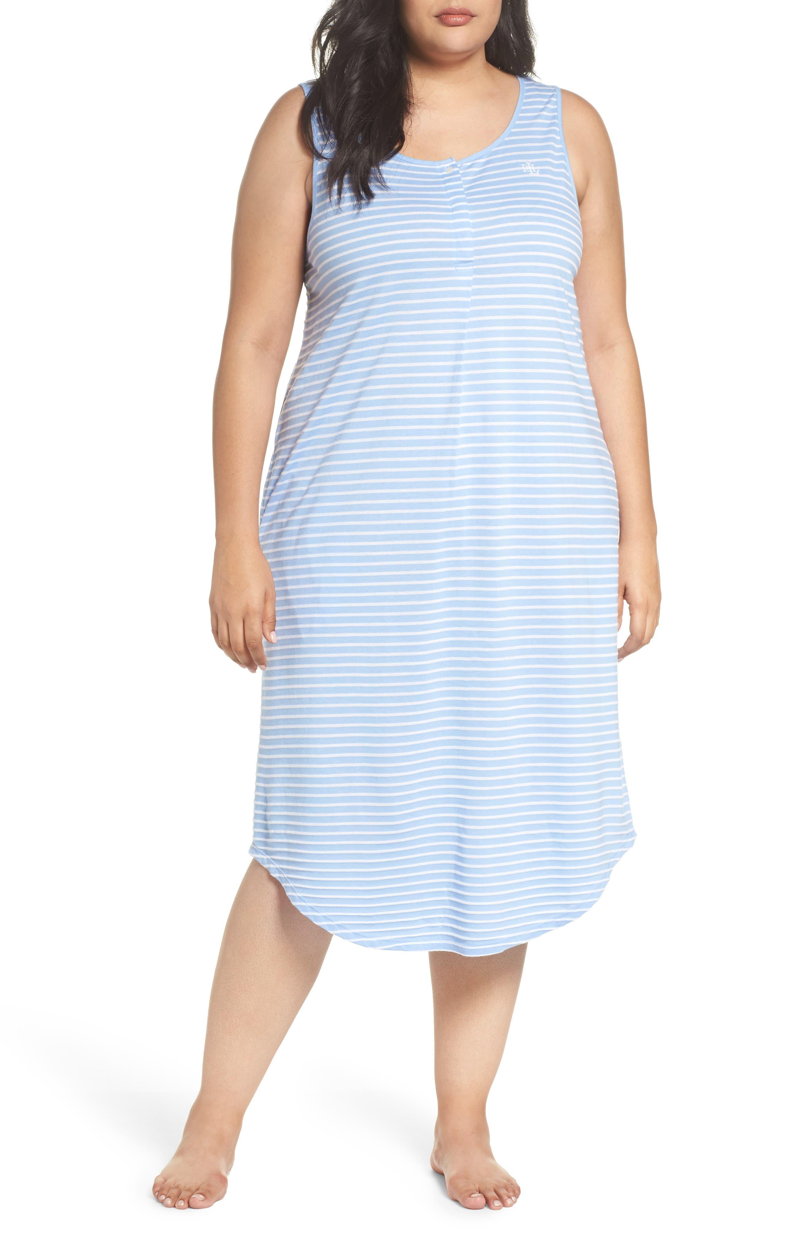 Lauren Ralph Lauren Piqué Cotton Ballet Gown (Plus Size)