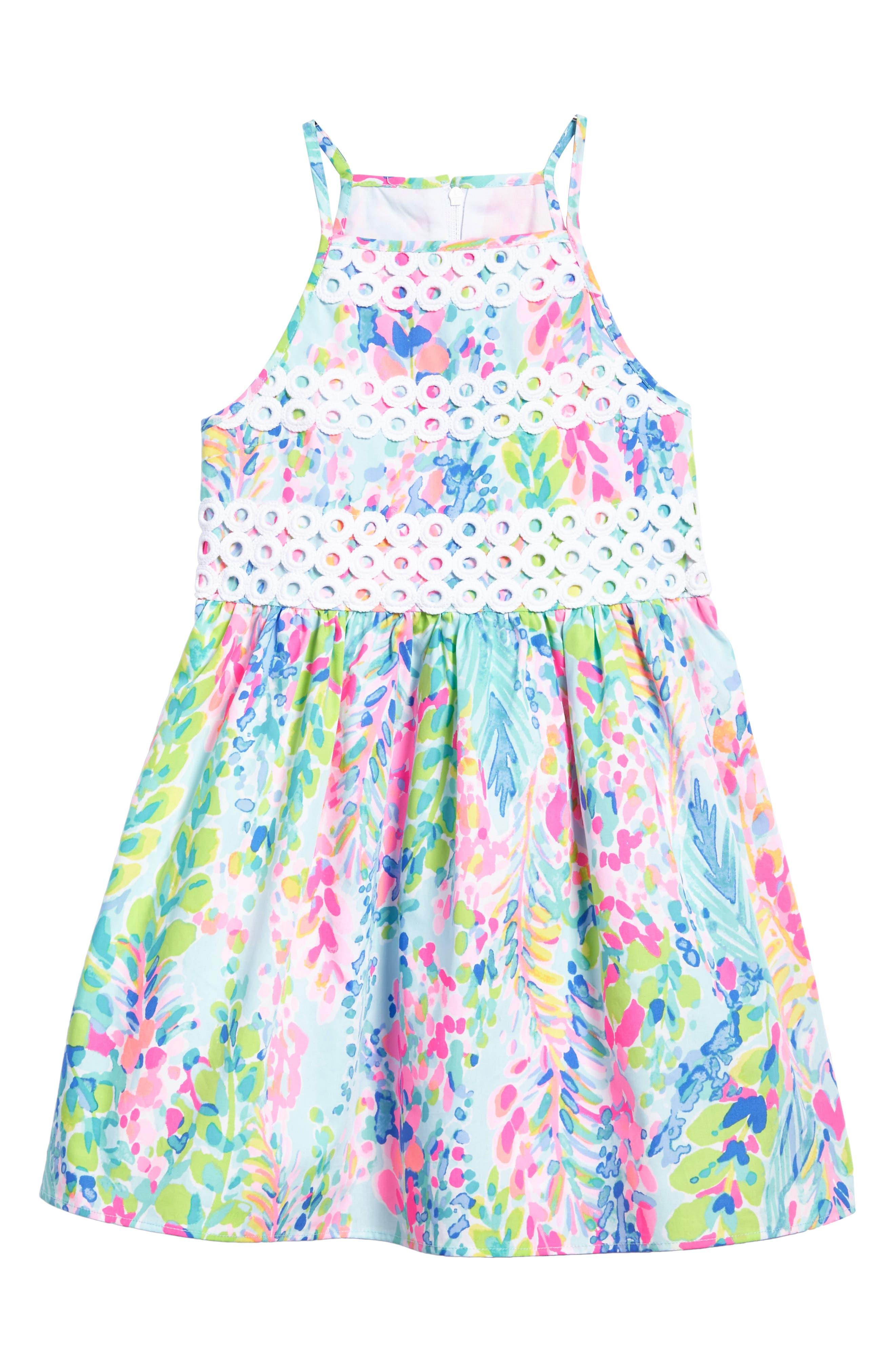 Elize Fit & Flare Dress,                         Main,                         color, Multi Catch The Wave