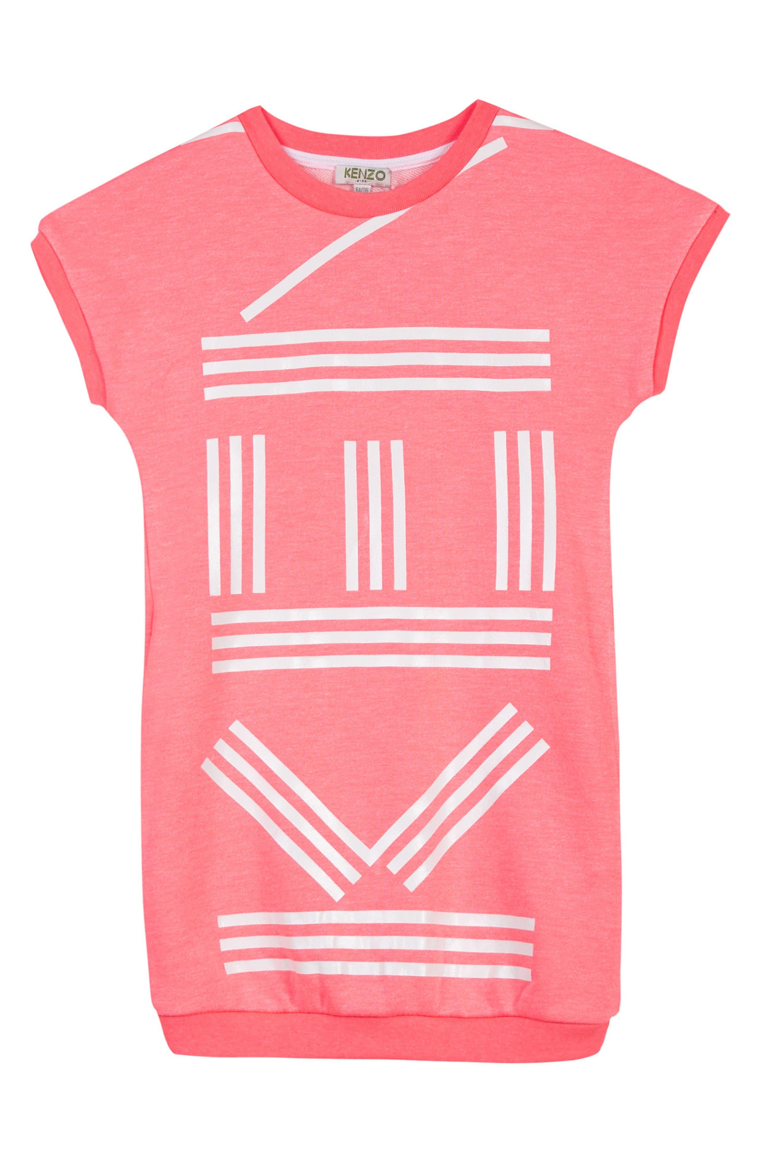 Main Image - KENZO Logo T-Shirt Dress (Toddler Girls, Little Girls & Big Girls)
